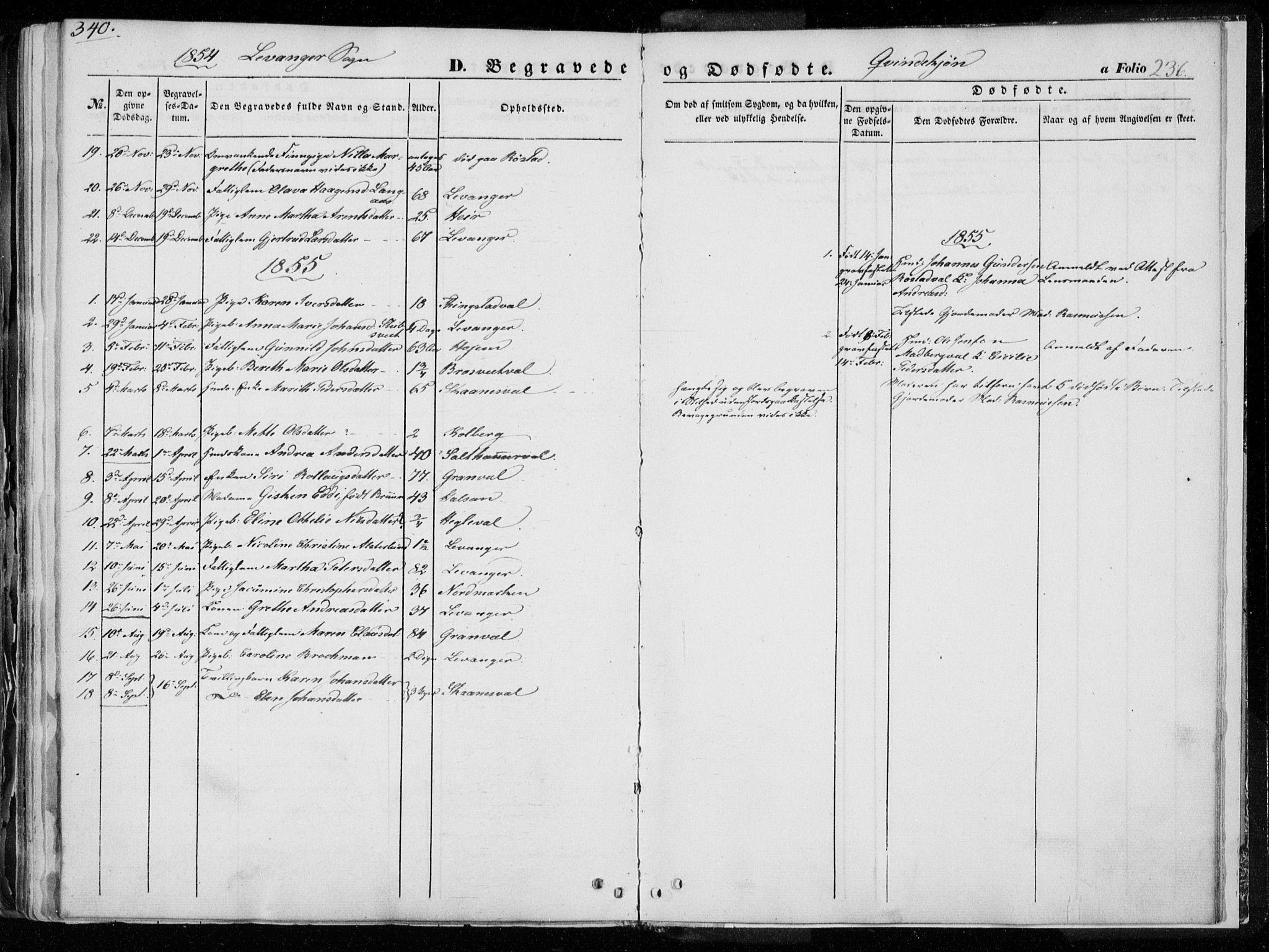 SAT, Ministerialprotokoller, klokkerbøker og fødselsregistre - Nord-Trøndelag, 720/L0183: Ministerialbok nr. 720A01, 1836-1855, s. 236