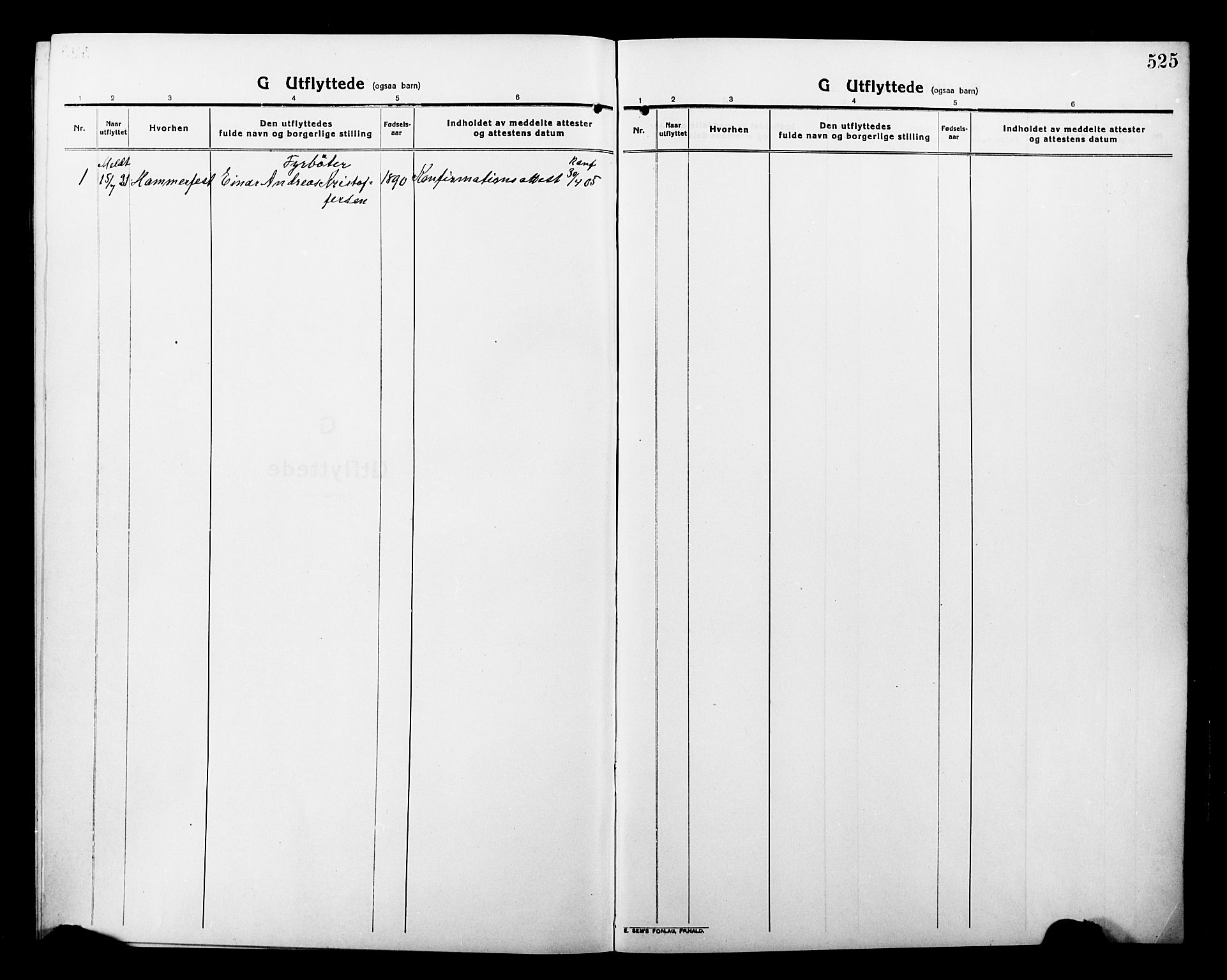 SATØ, Tromsø sokneprestkontor/stiftsprosti/domprosti, G/Gb/L0009klokker: Klokkerbok nr. 9, 1915-1925, s. 525