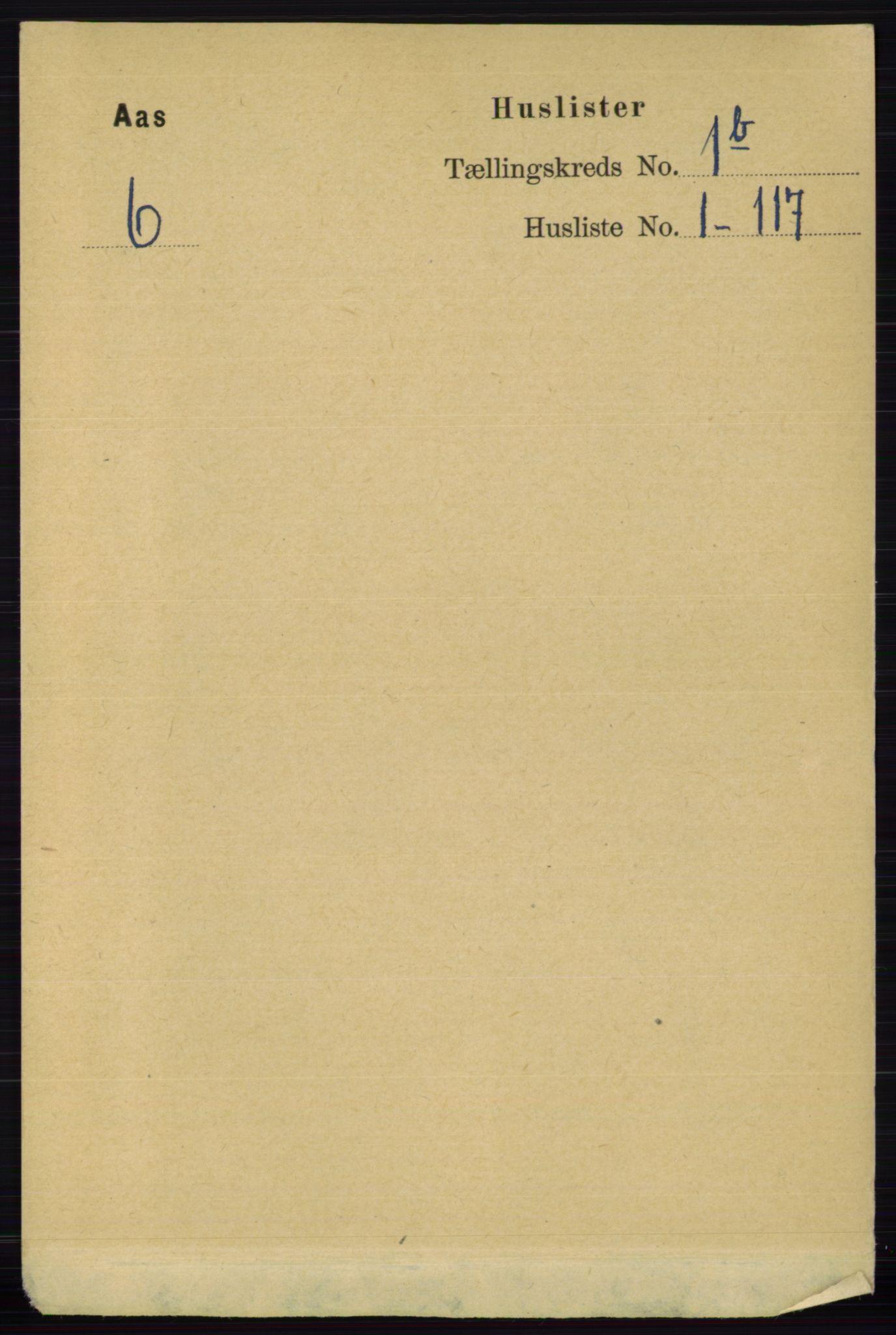 RA, Folketelling 1891 for 0214 Ås herred, 1891, s. 621