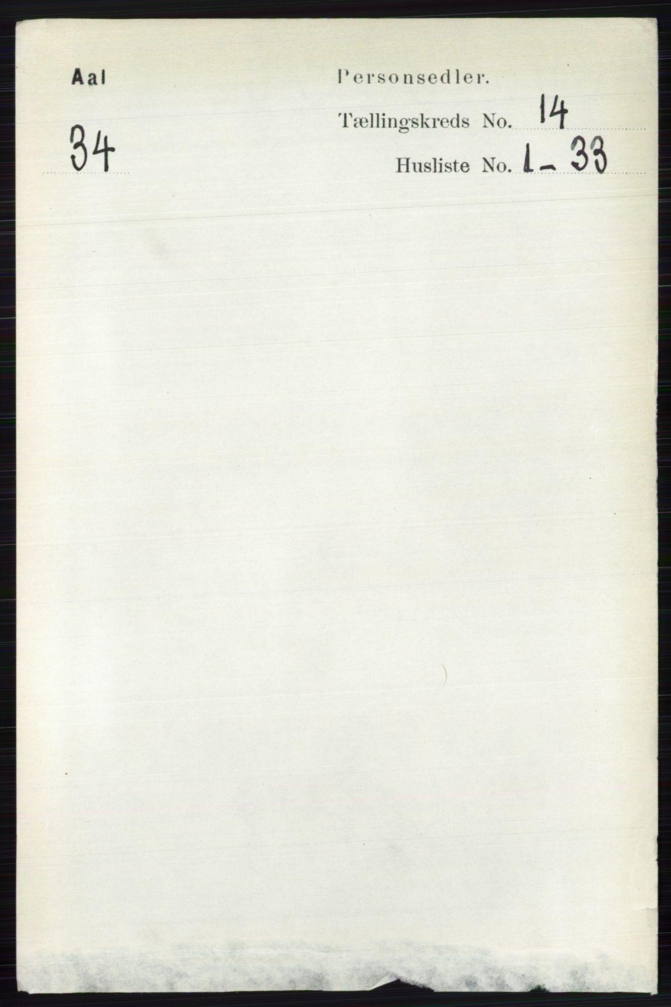 RA, Folketelling 1891 for 0619 Ål herred, 1891, s. 3542