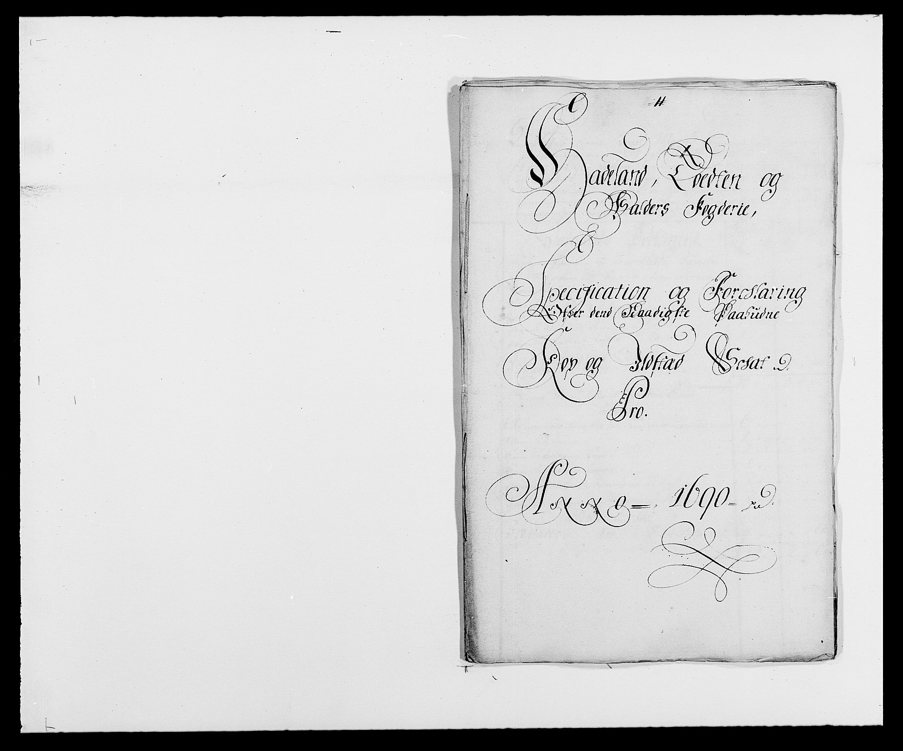 RA, Rentekammeret inntil 1814, Reviderte regnskaper, Fogderegnskap, R18/L1289: Fogderegnskap Hadeland, Toten og Valdres, 1690, s. 192