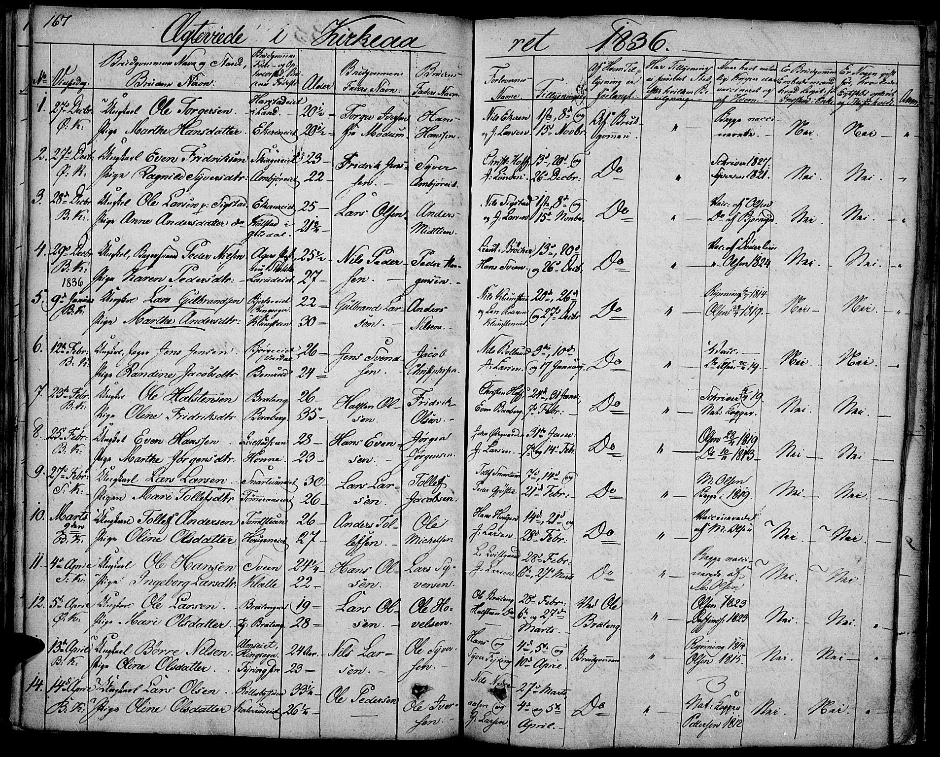 SAH, Biri prestekontor, Ministerialbok nr. 4, 1829-1842, s. 167