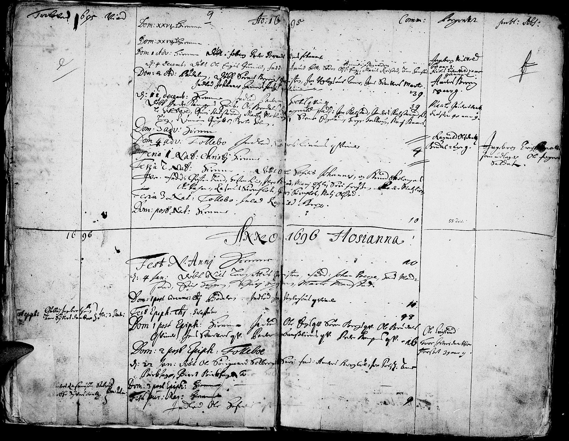 SAH, Gausdal prestekontor, Ministerialbok nr. 1, 1693-1728, s. 9