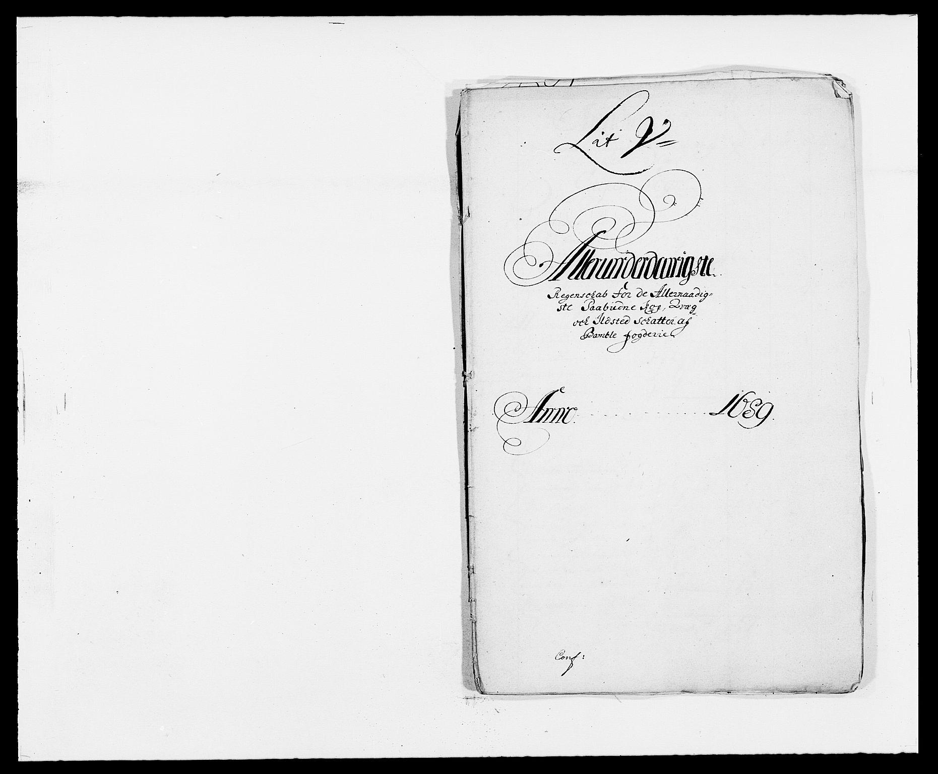 RA, Rentekammeret inntil 1814, Reviderte regnskaper, Fogderegnskap, R34/L2050: Fogderegnskap Bamble, 1688-1691, s. 364