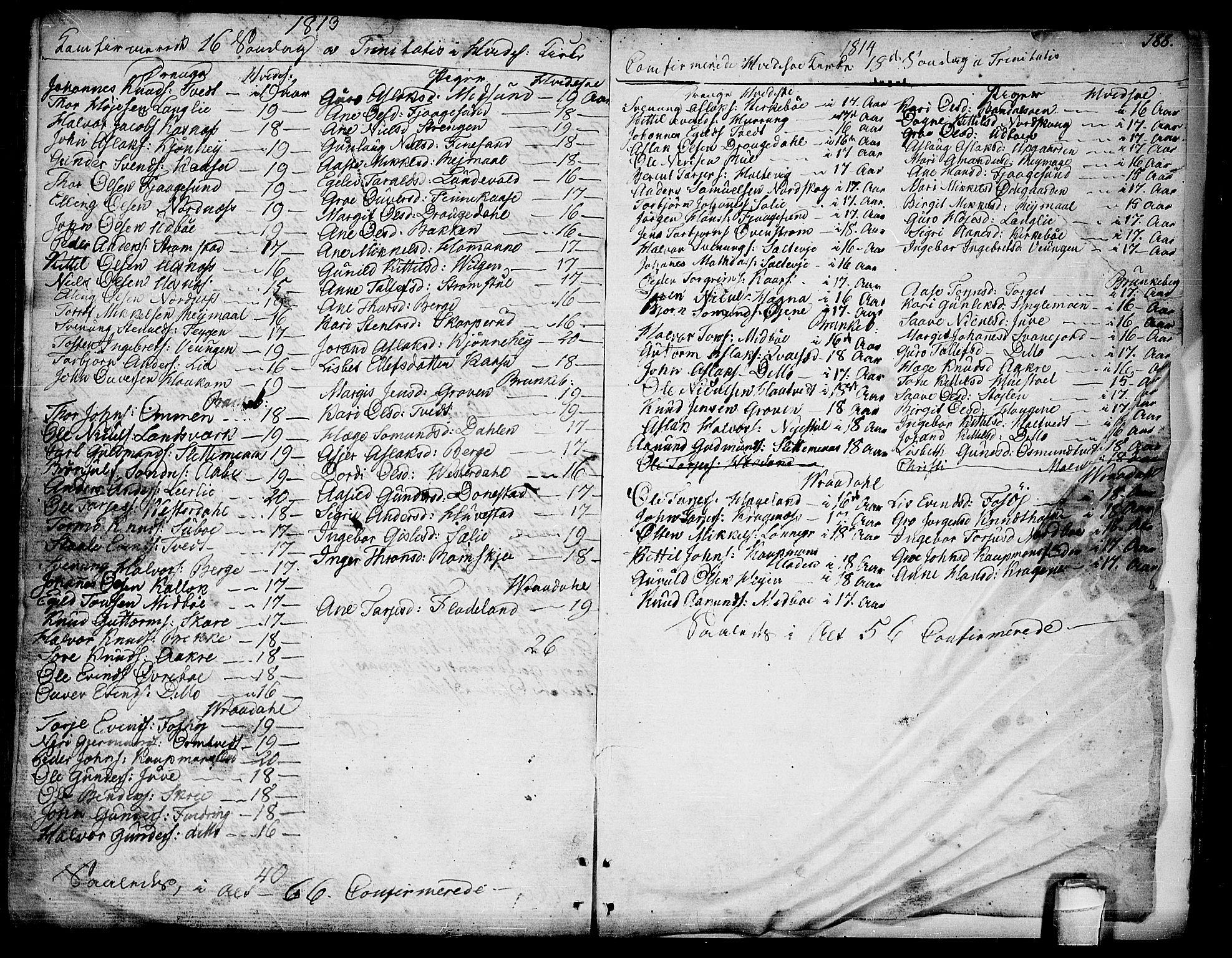 SAKO, Kviteseid kirkebøker, F/Fa/L0004: Ministerialbok nr. I 4, 1800-1814, s. 188