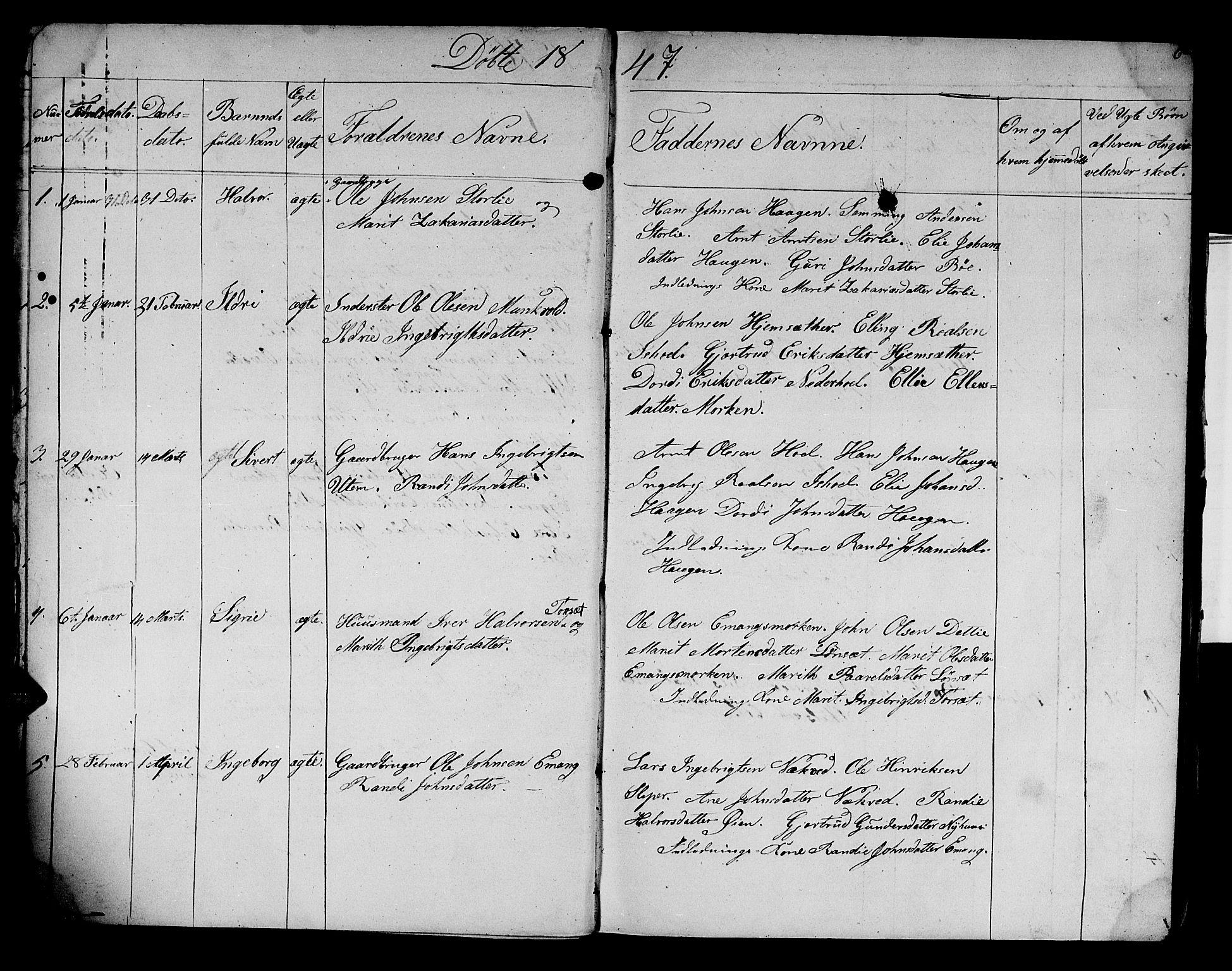 SAT, Ministerialprotokoller, klokkerbøker og fødselsregistre - Sør-Trøndelag, 679/L0922: Klokkerbok nr. 679C02, 1845-1851, s. 6
