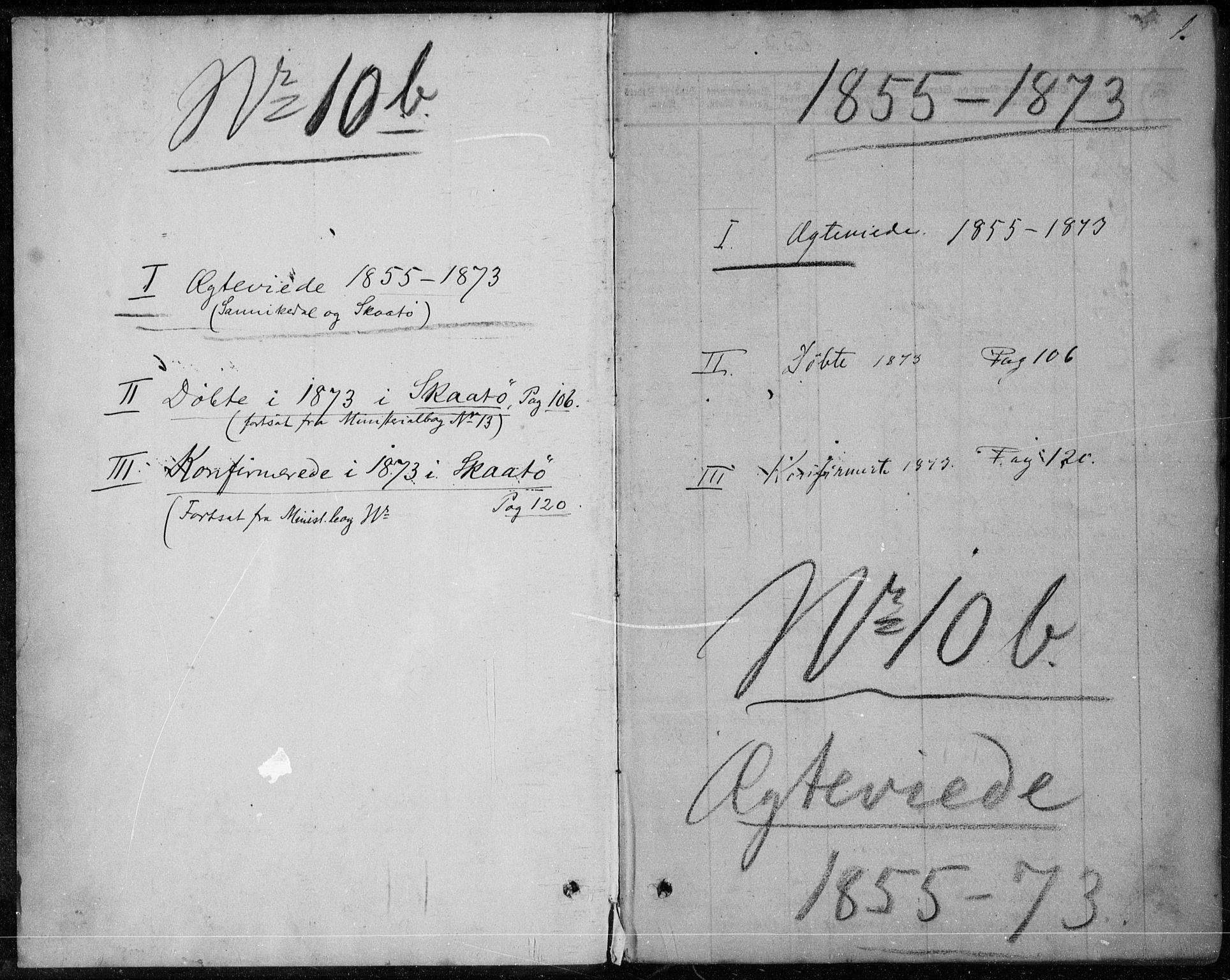 SAKO, Sannidal kirkebøker, F/Fa/L0010: Ministerialbok nr. 10, 1855-1873, s. 1
