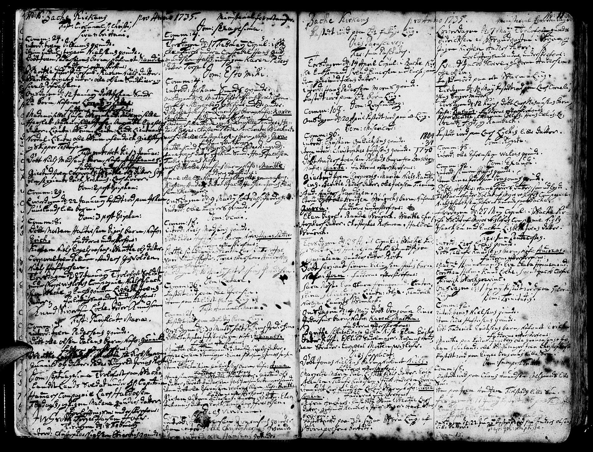 SAT, Ministerialprotokoller, klokkerbøker og fødselsregistre - Sør-Trøndelag, 606/L0276: Ministerialbok nr. 606A01 /2, 1727-1779, s. 16-17