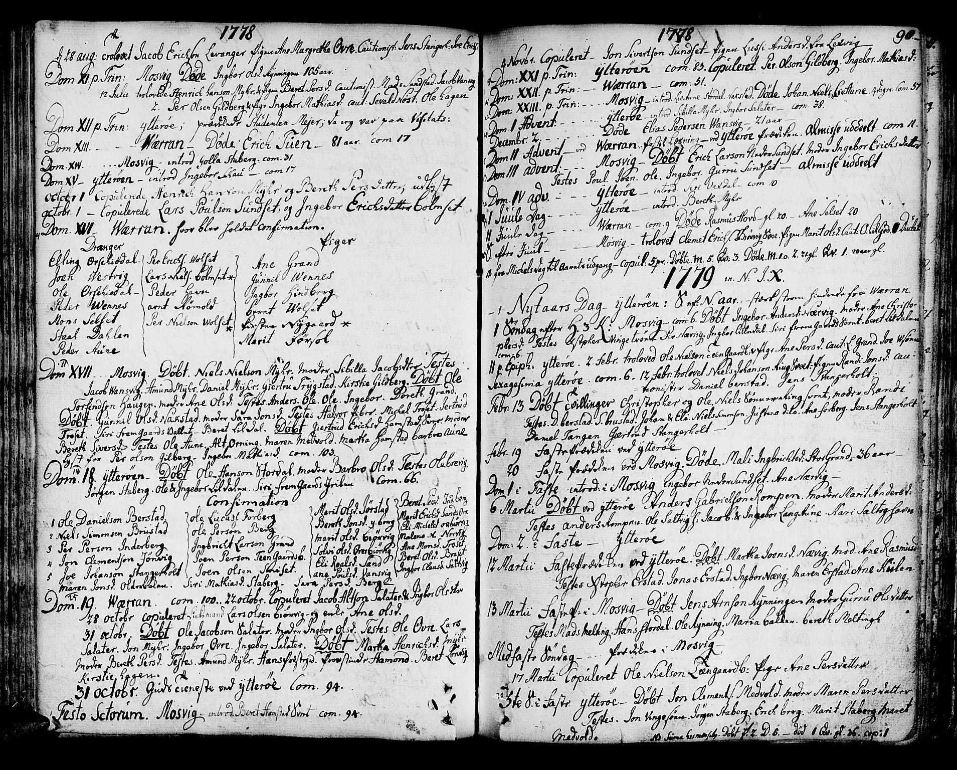 SAT, Ministerialprotokoller, klokkerbøker og fødselsregistre - Nord-Trøndelag, 722/L0216: Ministerialbok nr. 722A03, 1756-1816, s. 90