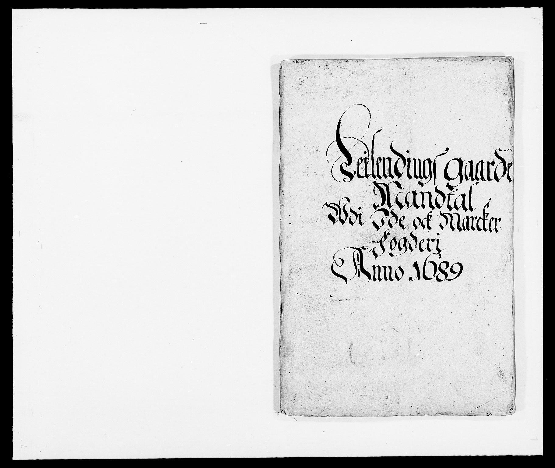RA, Rentekammeret inntil 1814, Reviderte regnskaper, Fogderegnskap, R01/L0008: Fogderegnskap Idd og Marker, 1689, s. 139