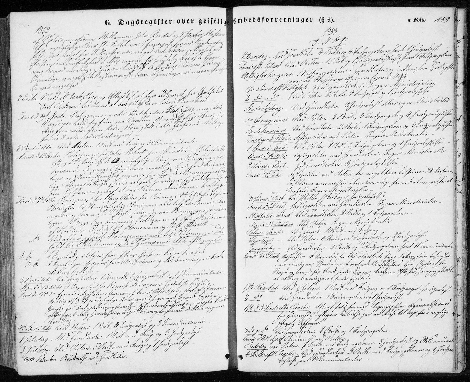 SAT, Ministerialprotokoller, klokkerbøker og fødselsregistre - Sør-Trøndelag, 646/L0611: Ministerialbok nr. 646A09, 1848-1857, s. 459