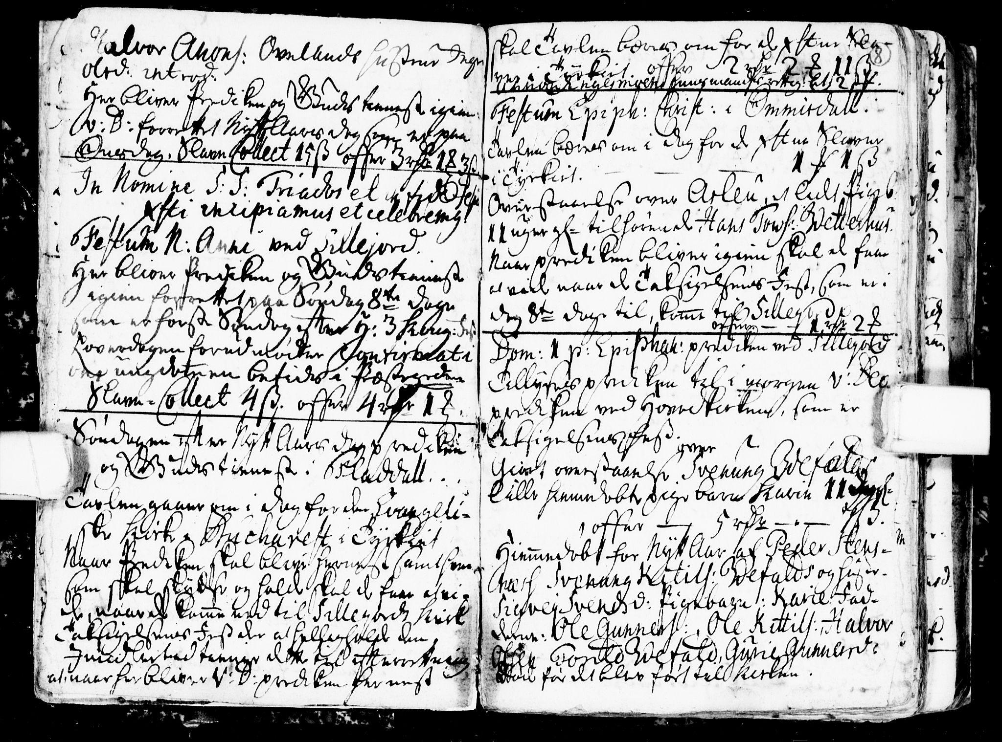 SAKO, Seljord kirkebøker, G/Gb/L0001: Klokkerbok nr. II 1, 1754-1790, s. 7-8