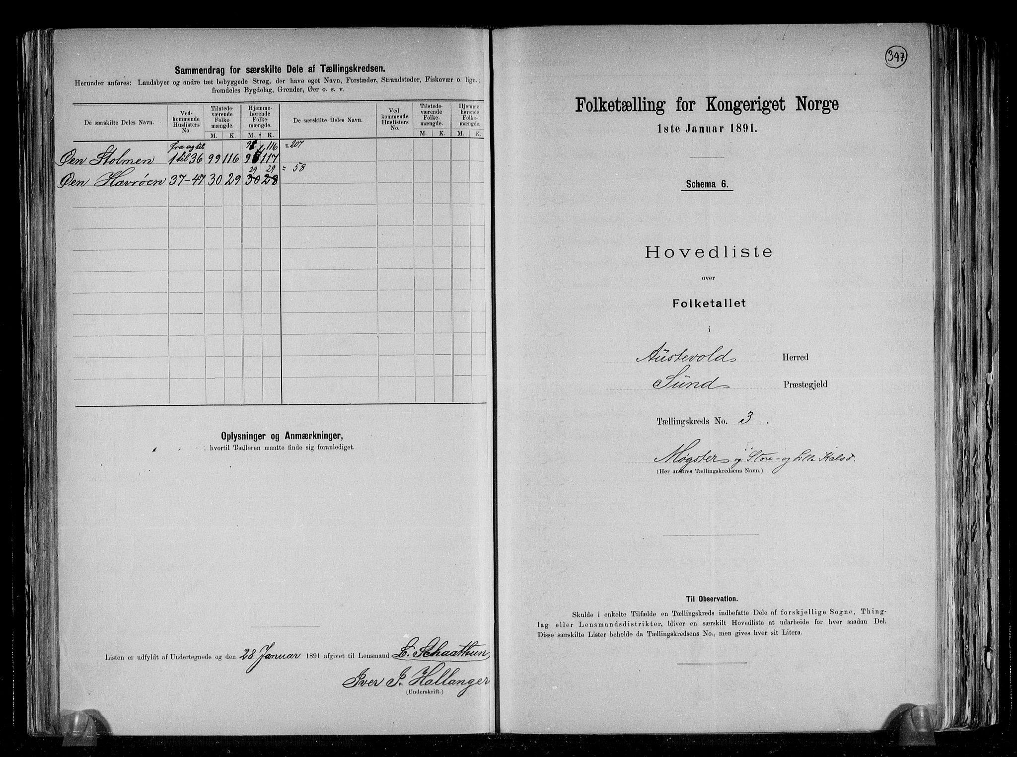 RA, Folketelling 1891 for 1244 Austevoll herred, 1891, s. 8