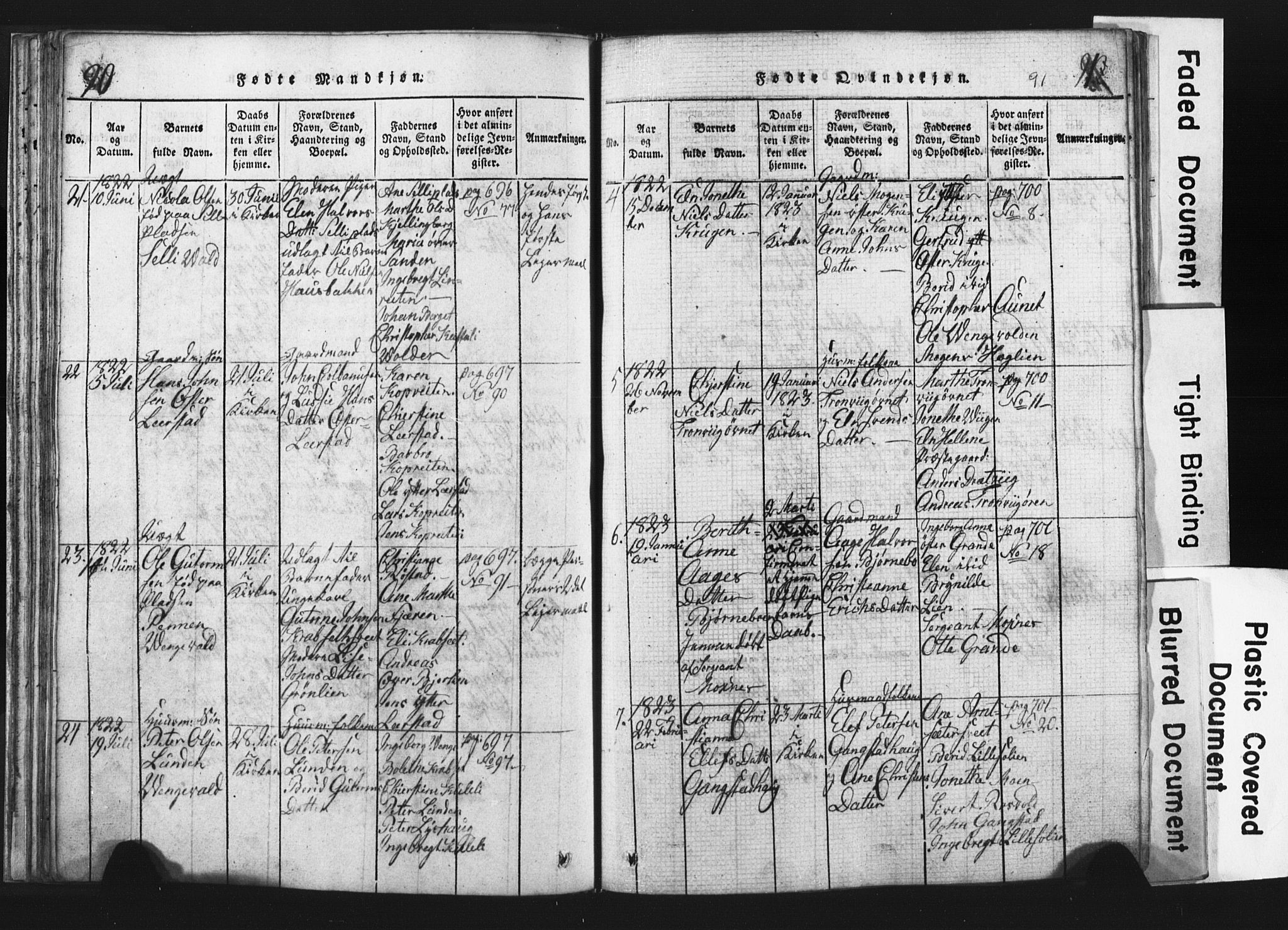 SAT, Ministerialprotokoller, klokkerbøker og fødselsregistre - Nord-Trøndelag, 701/L0017: Klokkerbok nr. 701C01, 1817-1825, s. 90-91
