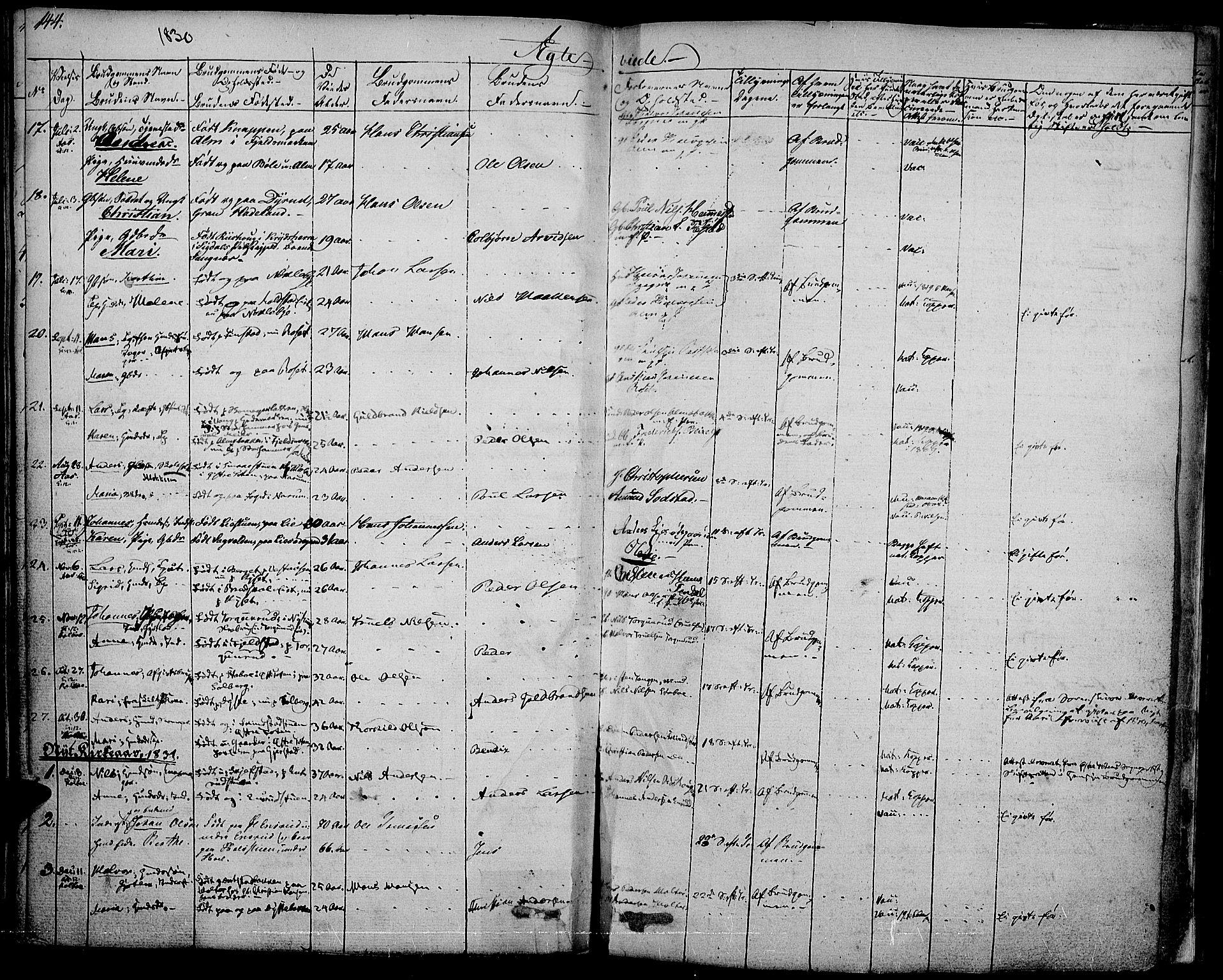 SAH, Vestre Toten prestekontor, Ministerialbok nr. 2, 1825-1837, s. 144