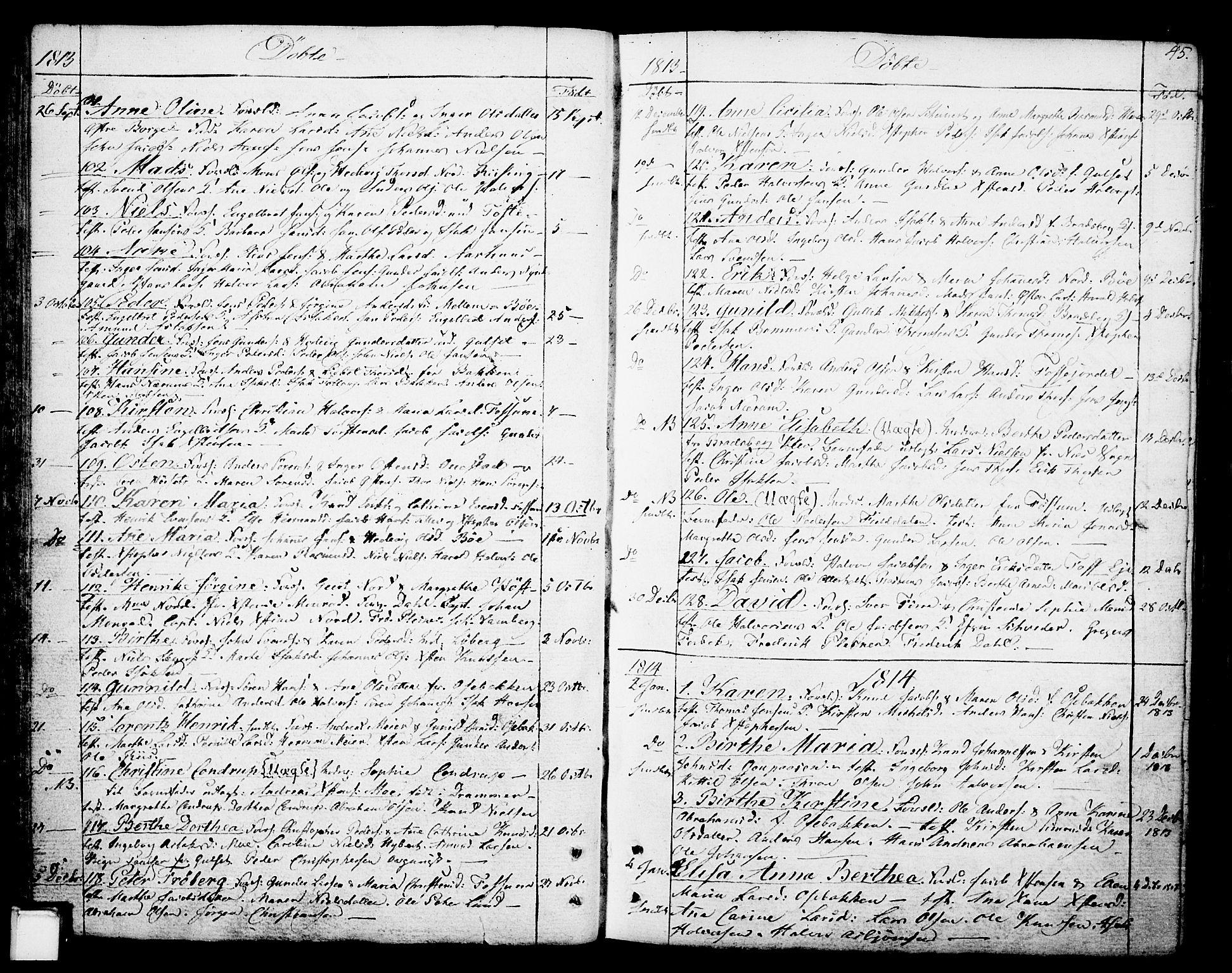 SAKO, Gjerpen kirkebøker, F/Fa/L0003: Ministerialbok nr. 3, 1796-1814, s. 45