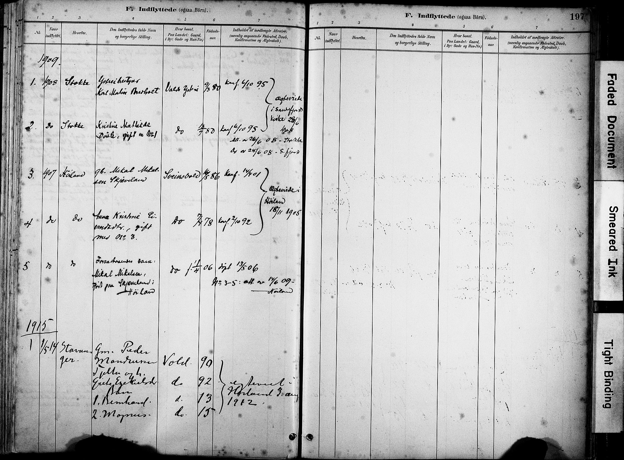 SAST, Klepp sokneprestkontor, 3/30BA/L0008: Ministerialbok nr. A 9, 1886-1919, s. 197