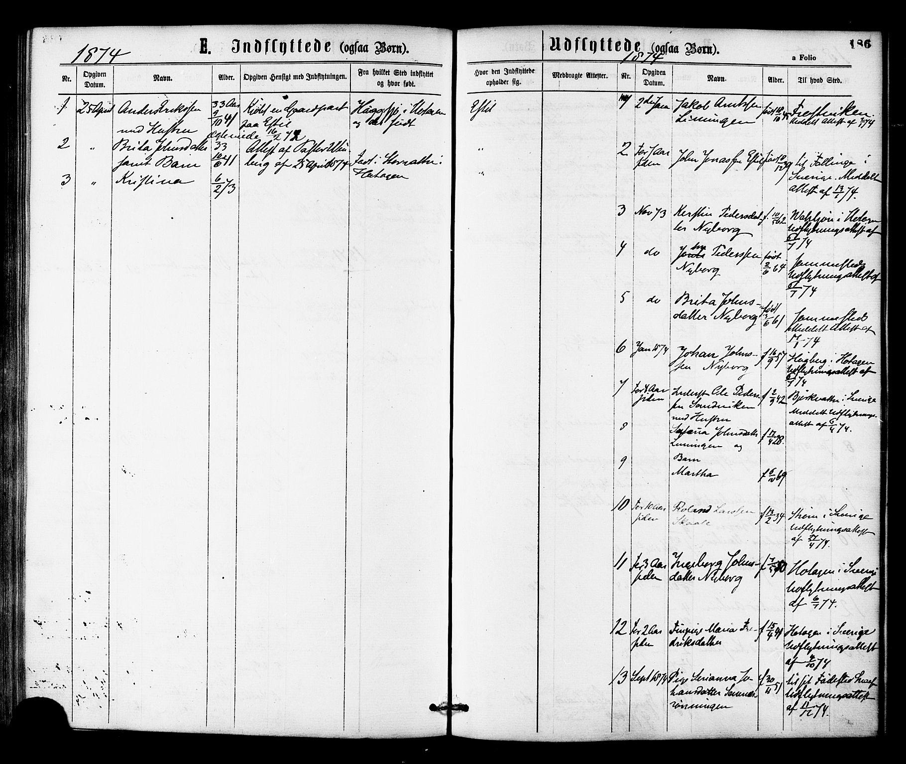 SAT, Ministerialprotokoller, klokkerbøker og fødselsregistre - Nord-Trøndelag, 755/L0493: Ministerialbok nr. 755A02, 1865-1881, s. 186
