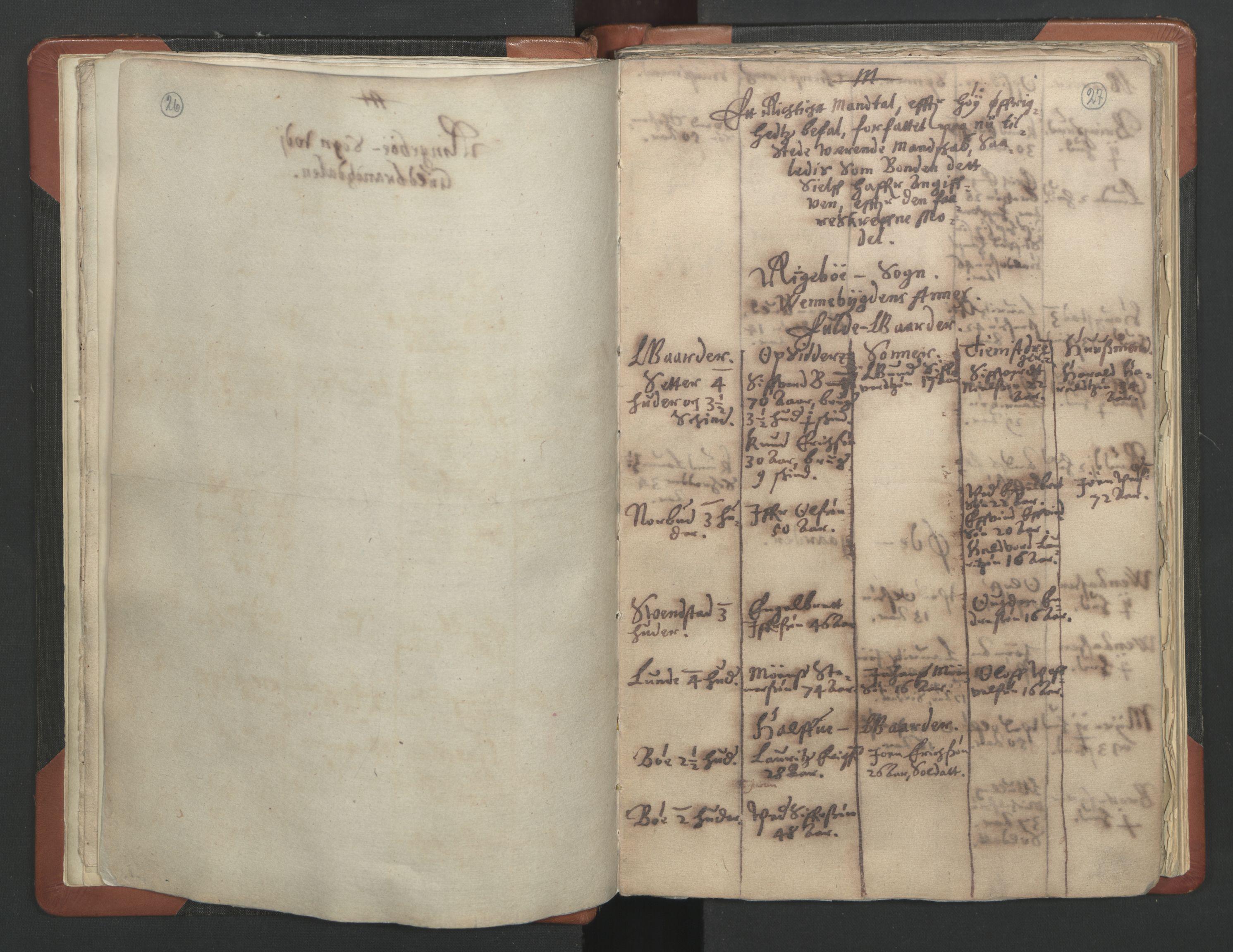 RA, Sogneprestenes manntall 1664-1666, nr. 6: Gudbrandsdal prosti, 1664-1666, s. 26-27