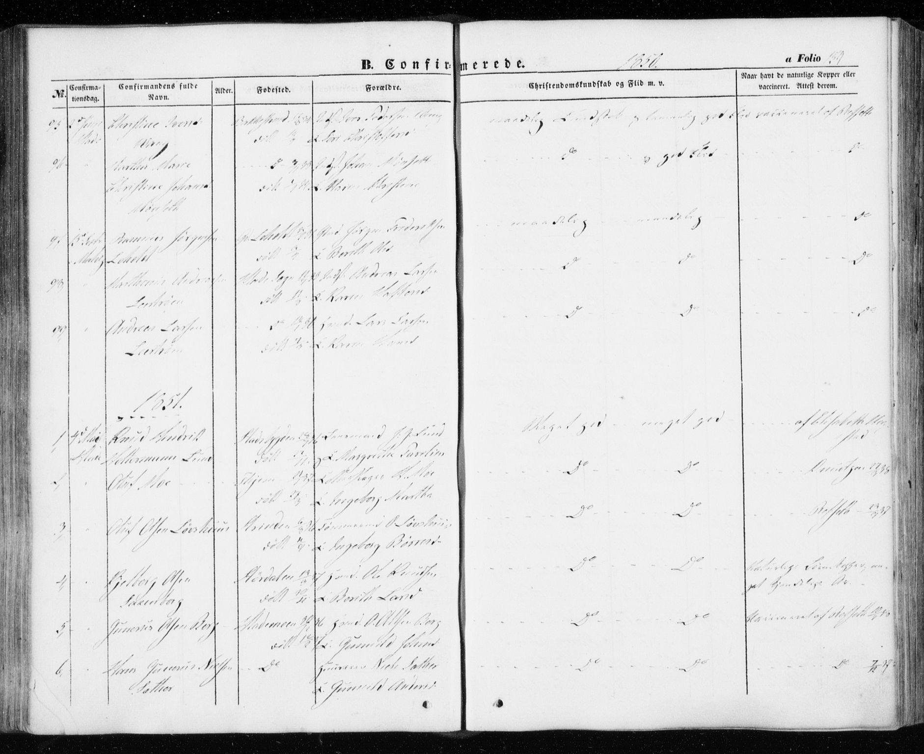 SAT, Ministerialprotokoller, klokkerbøker og fødselsregistre - Sør-Trøndelag, 606/L0291: Ministerialbok nr. 606A06, 1848-1856, s. 159