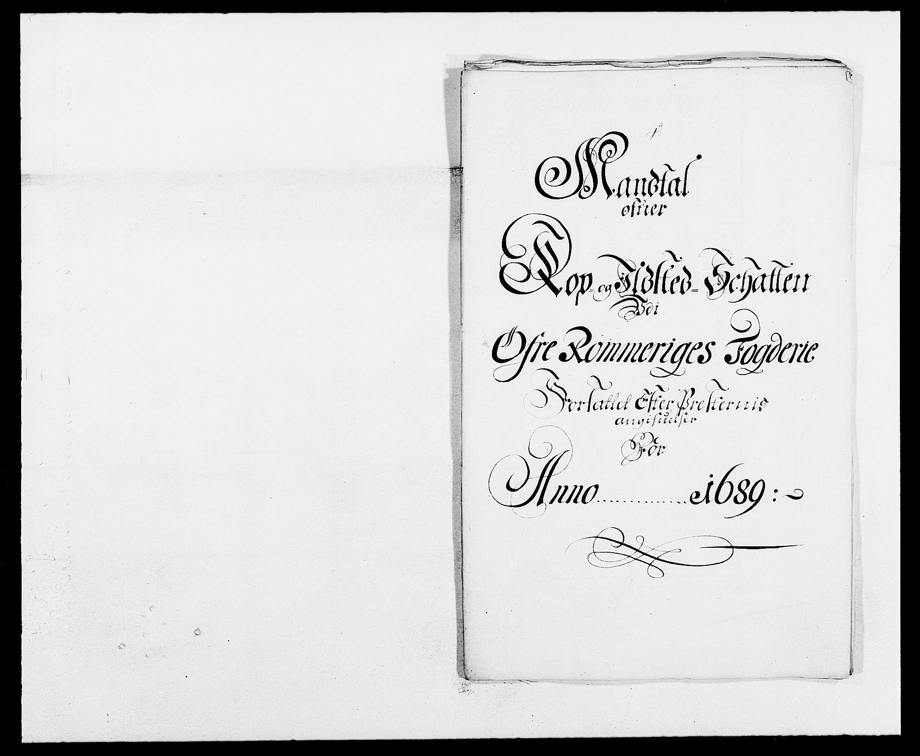 RA, Rentekammeret inntil 1814, Reviderte regnskaper, Fogderegnskap, R12/L0701: Fogderegnskap Øvre Romerike, 1689, s. 204