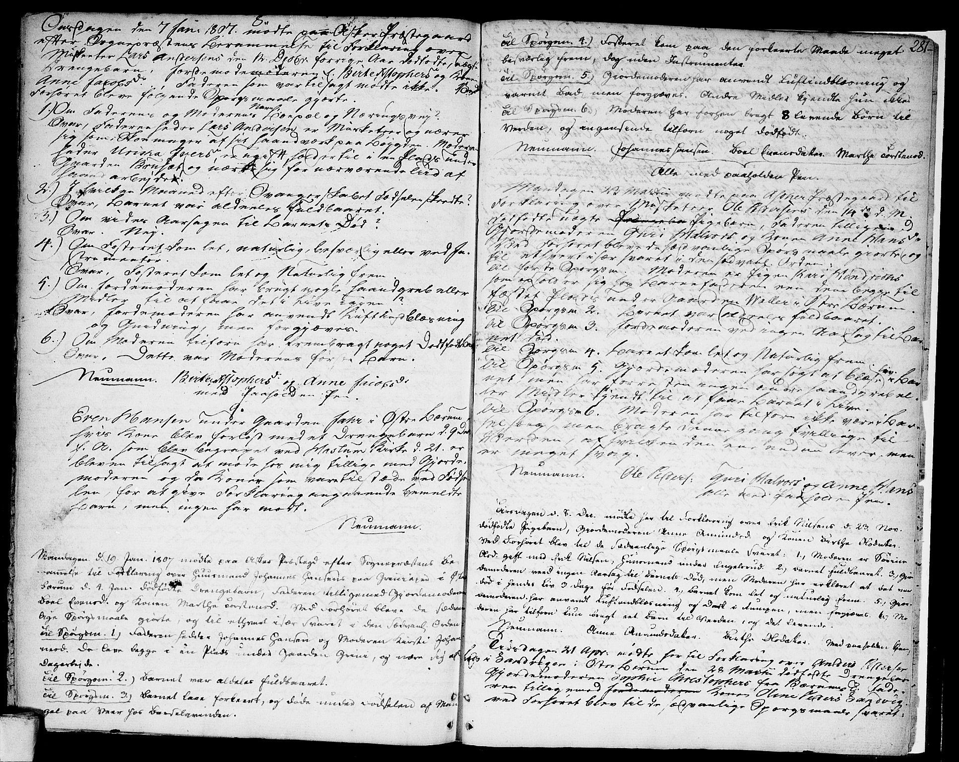 SAO, Asker prestekontor Kirkebøker, F/Fa/L0003: Ministerialbok nr. I 3, 1767-1807, s. 281