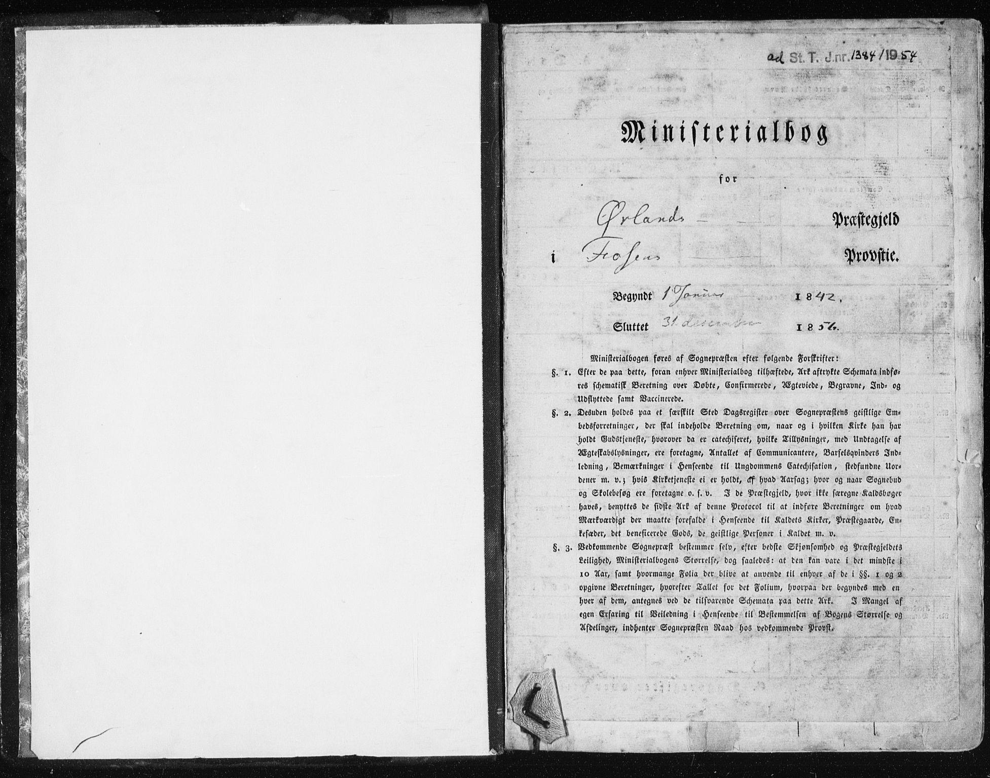 SAT, Ministerialprotokoller, klokkerbøker og fødselsregistre - Sør-Trøndelag, 659/L0736: Ministerialbok nr. 659A06, 1842-1856