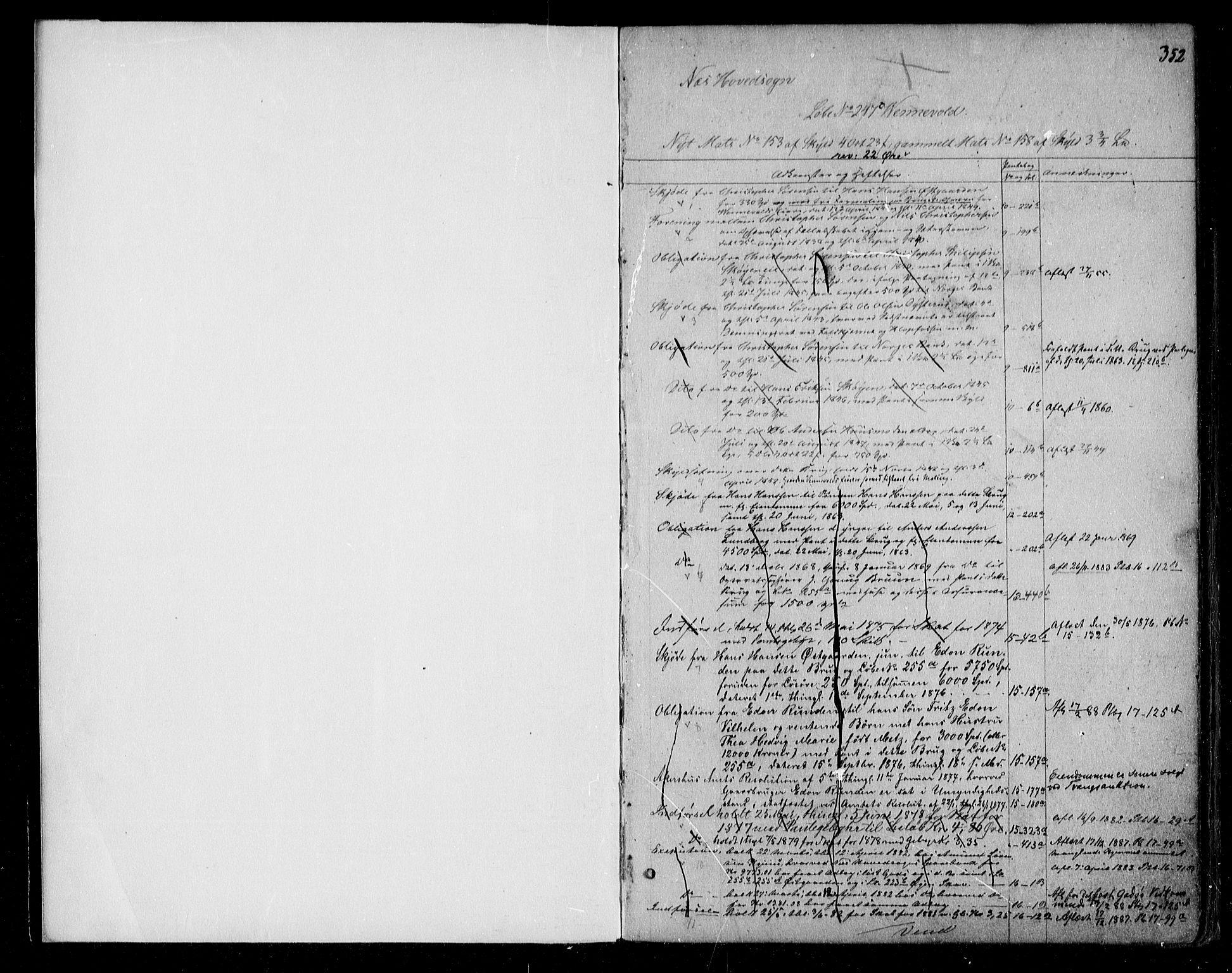 SAO, Nes tingrett, G/Ga/Gab/Gaba/L0001.b: Panteregister nr. I 1b, s. 352