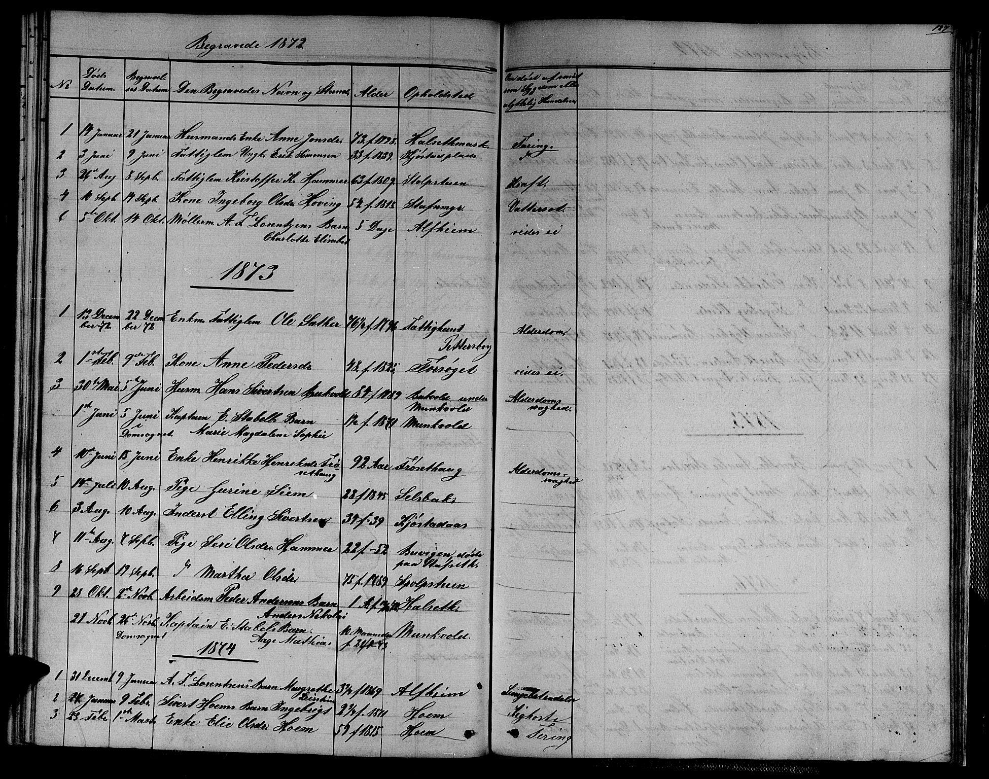 SAT, Ministerialprotokoller, klokkerbøker og fødselsregistre - Sør-Trøndelag, 611/L0353: Klokkerbok nr. 611C01, 1854-1881, s. 127