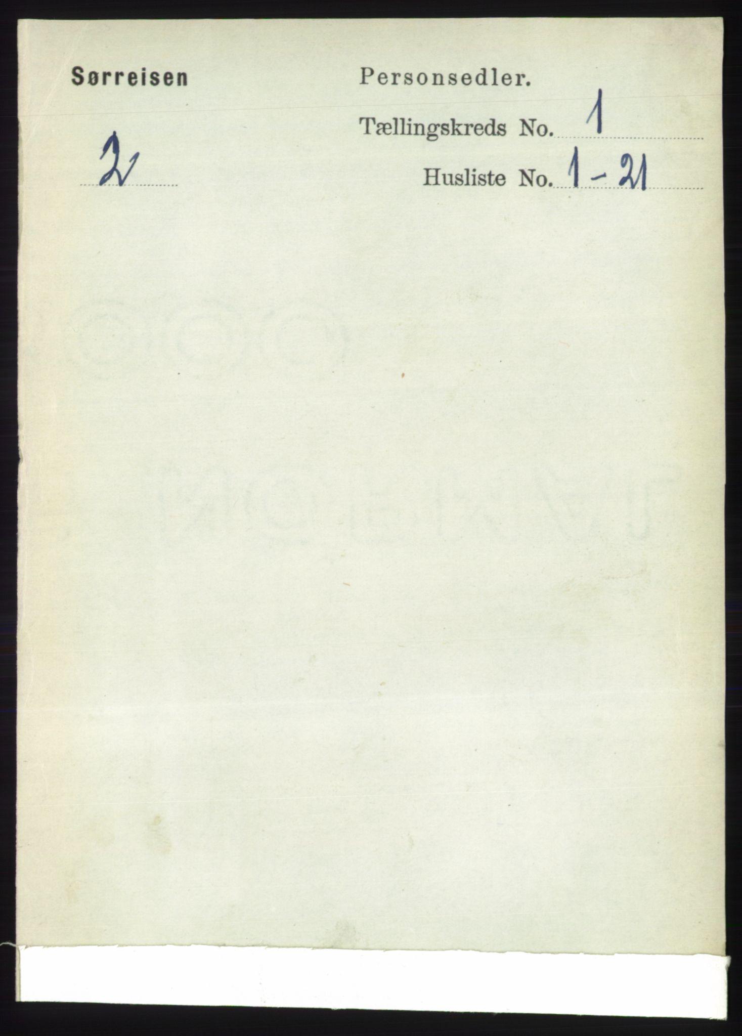 RA, Folketelling 1891 for 1925 Sørreisa herred, 1891, s. 61