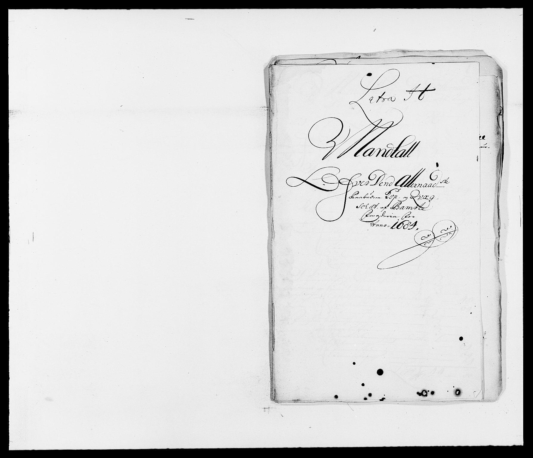 RA, Rentekammeret inntil 1814, Reviderte regnskaper, Fogderegnskap, R34/L2047: Fogderegnskap Bamble, 1684, s. 139