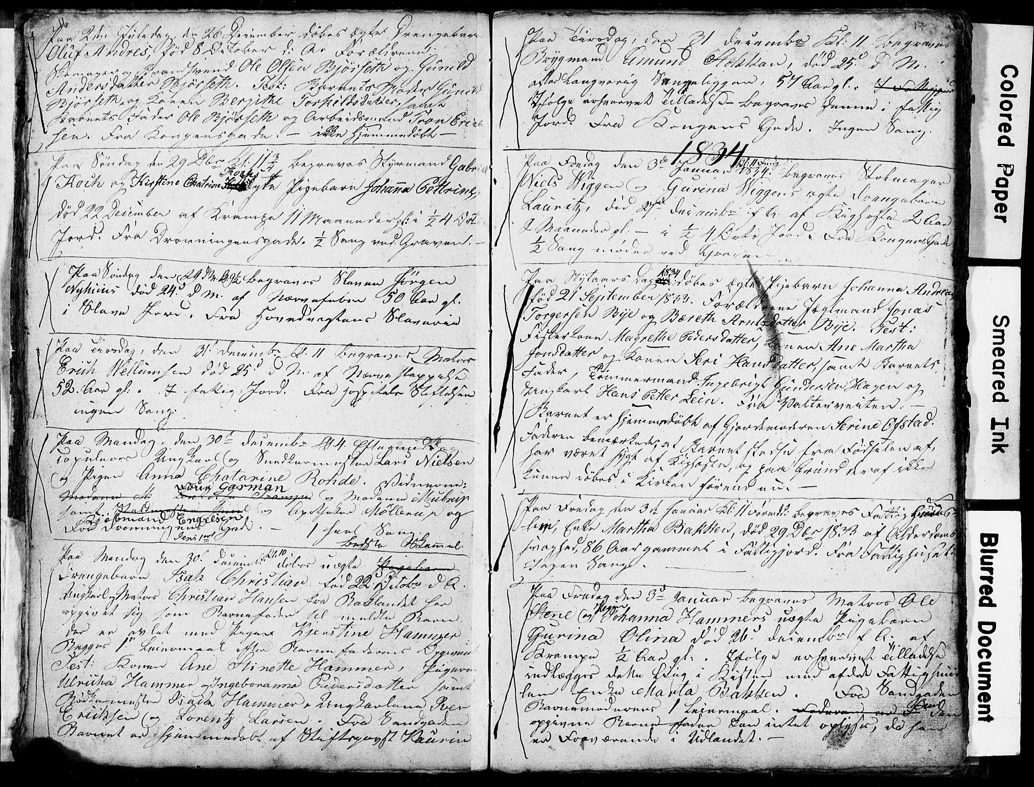 SAT, Ministerialprotokoller, klokkerbøker og fødselsregistre - Sør-Trøndelag, 601/L0082: Klokkerbok nr. 601C00, 1833-1834, s. 16-17