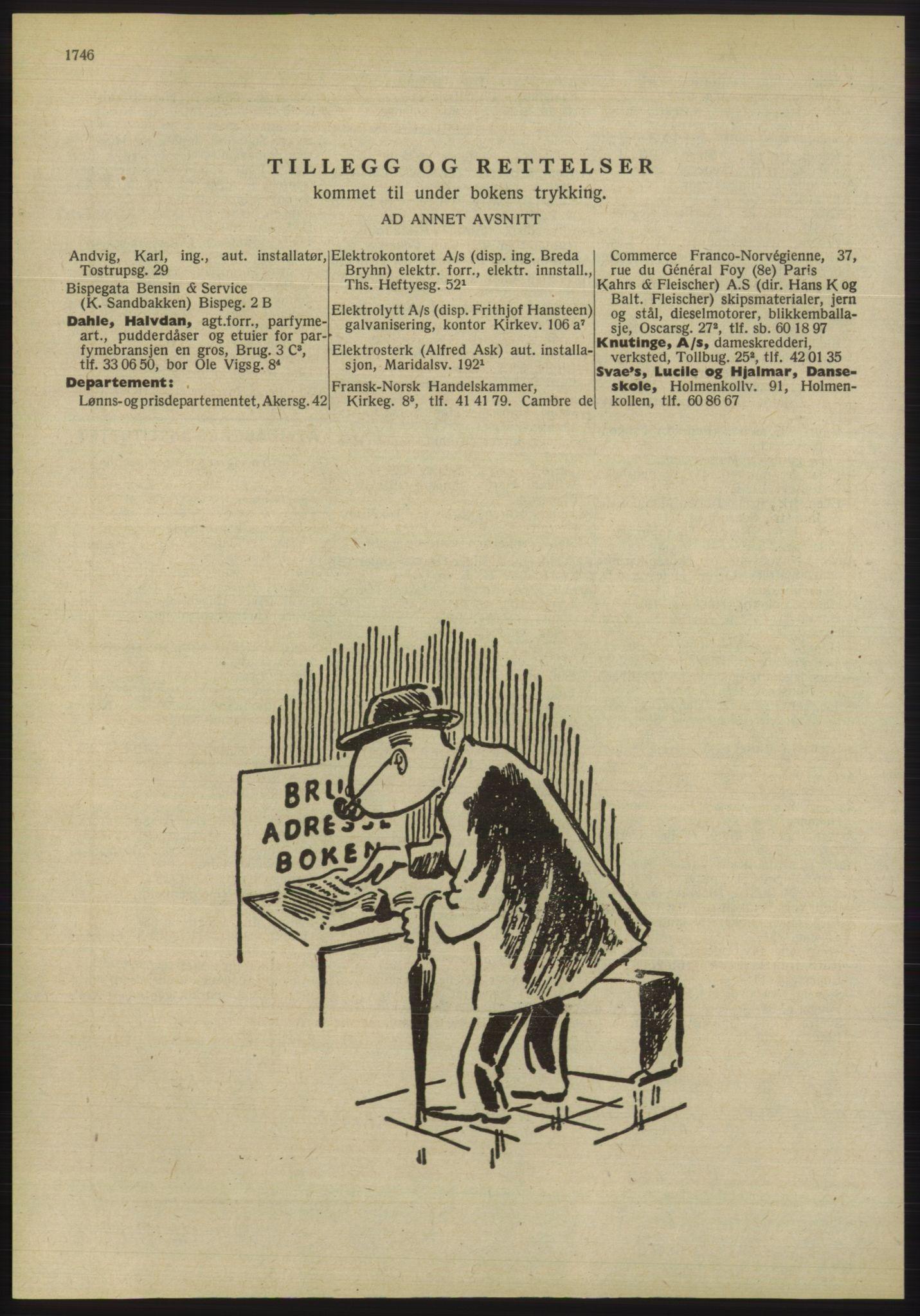 RA, Oslo adressebok (publikasjon)*, 1955, s. 1746