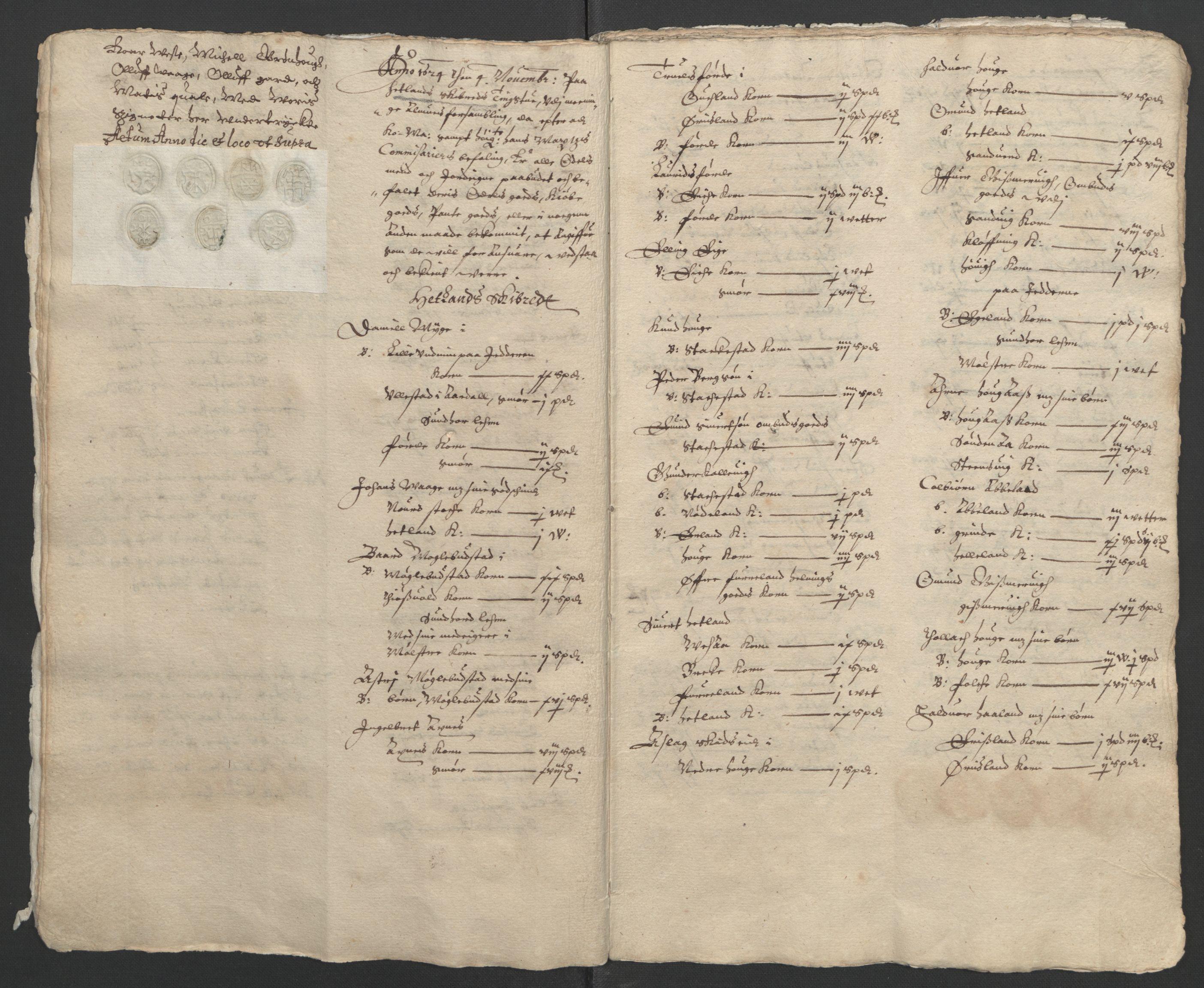 RA, Stattholderembetet 1572-1771, Ek/L0010: Jordebøker til utlikning av rosstjeneste 1624-1626:, 1624-1626, s. 11