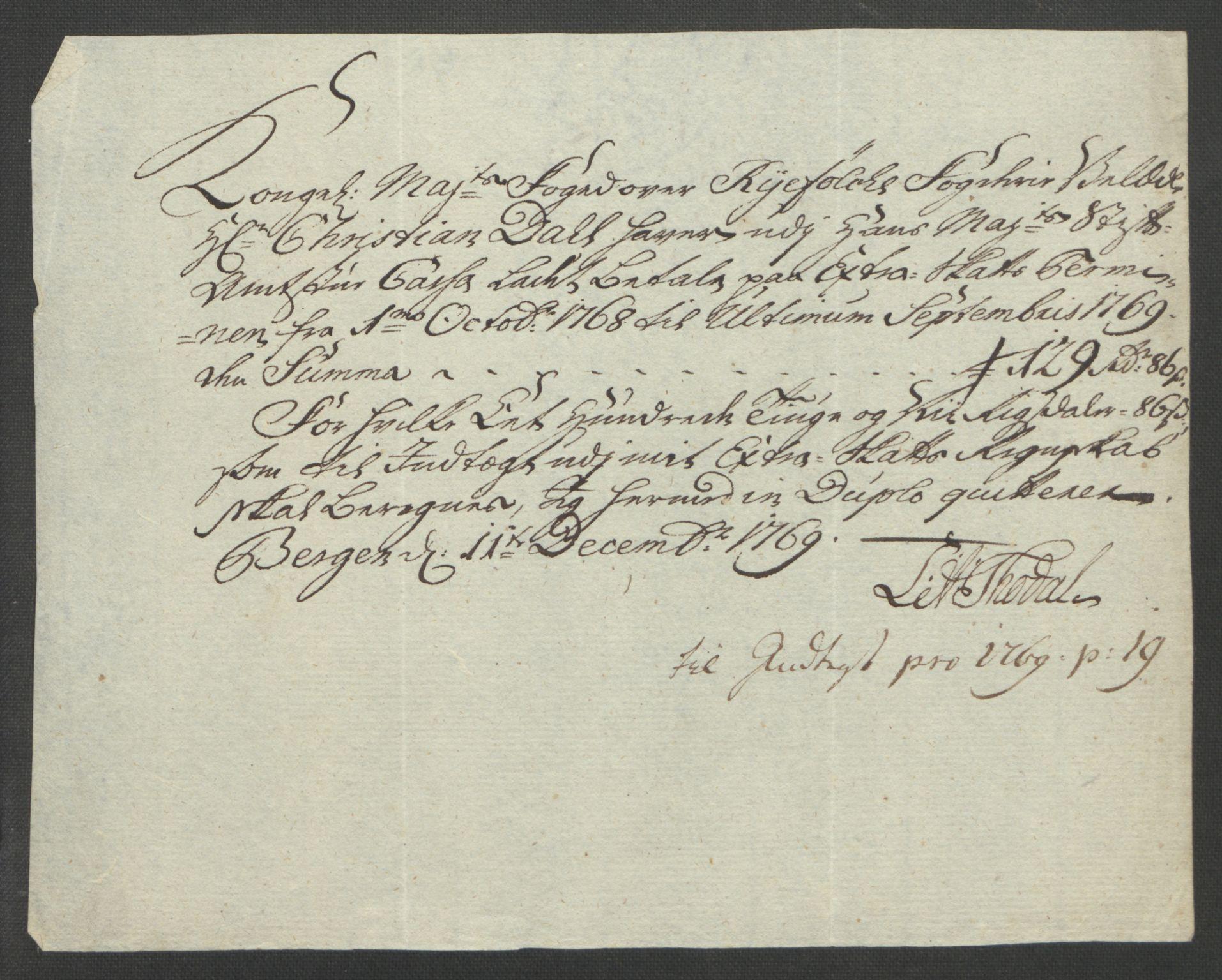 RA, Rentekammeret inntil 1814, Reviderte regnskaper, Fogderegnskap, R47/L2972: Ekstraskatten Ryfylke, 1762-1780, s. 174