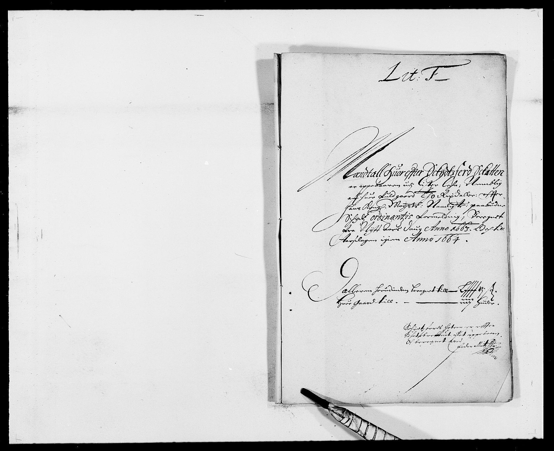 RA, Rentekammeret inntil 1814, Reviderte regnskaper, Fogderegnskap, R41/L2523: Fogderegnskap Lista, 1663-1664, s. 116