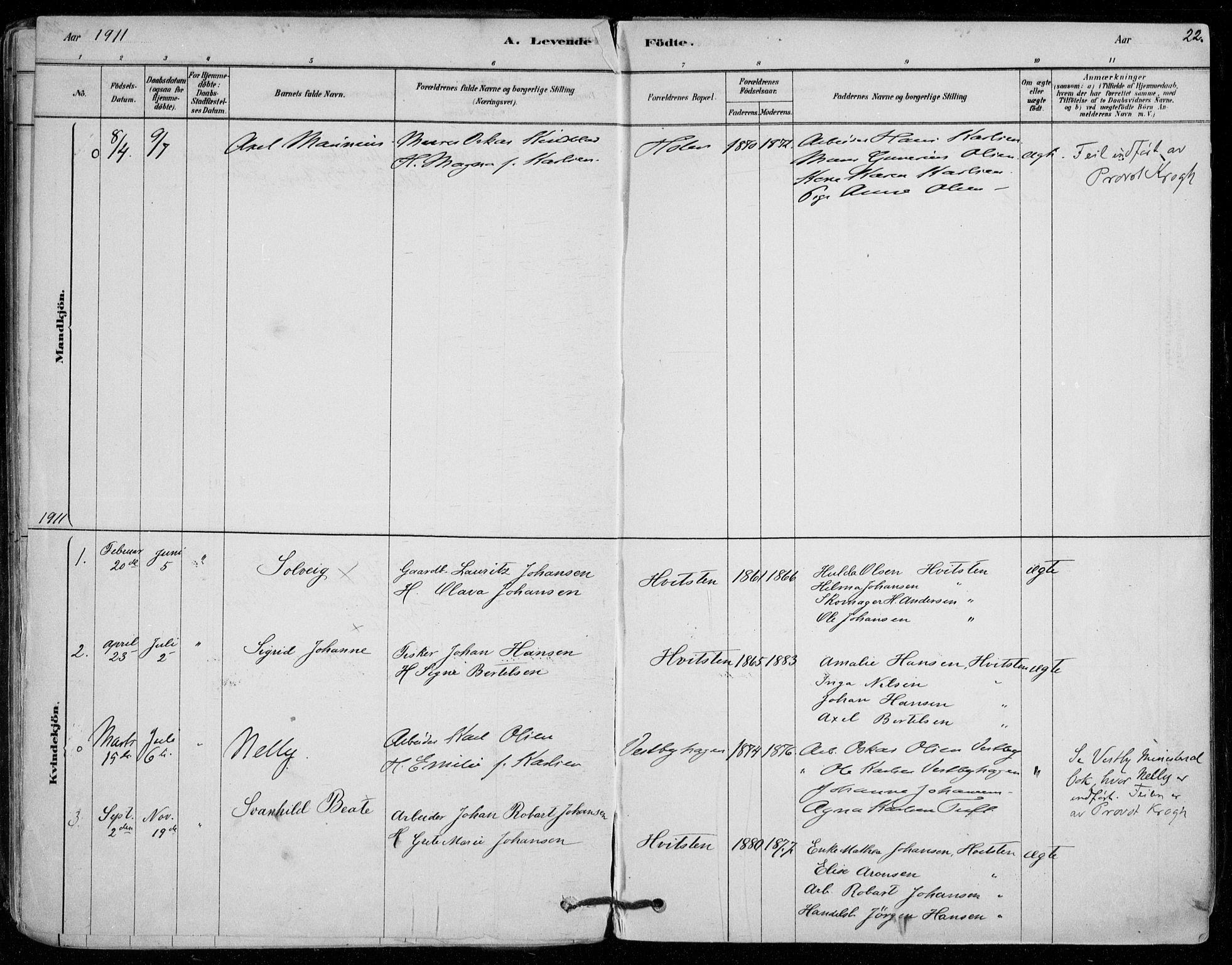 SAO, Vestby prestekontor Kirkebøker, F/Fd/L0001: Ministerialbok nr. IV 1, 1878-1945, s. 22