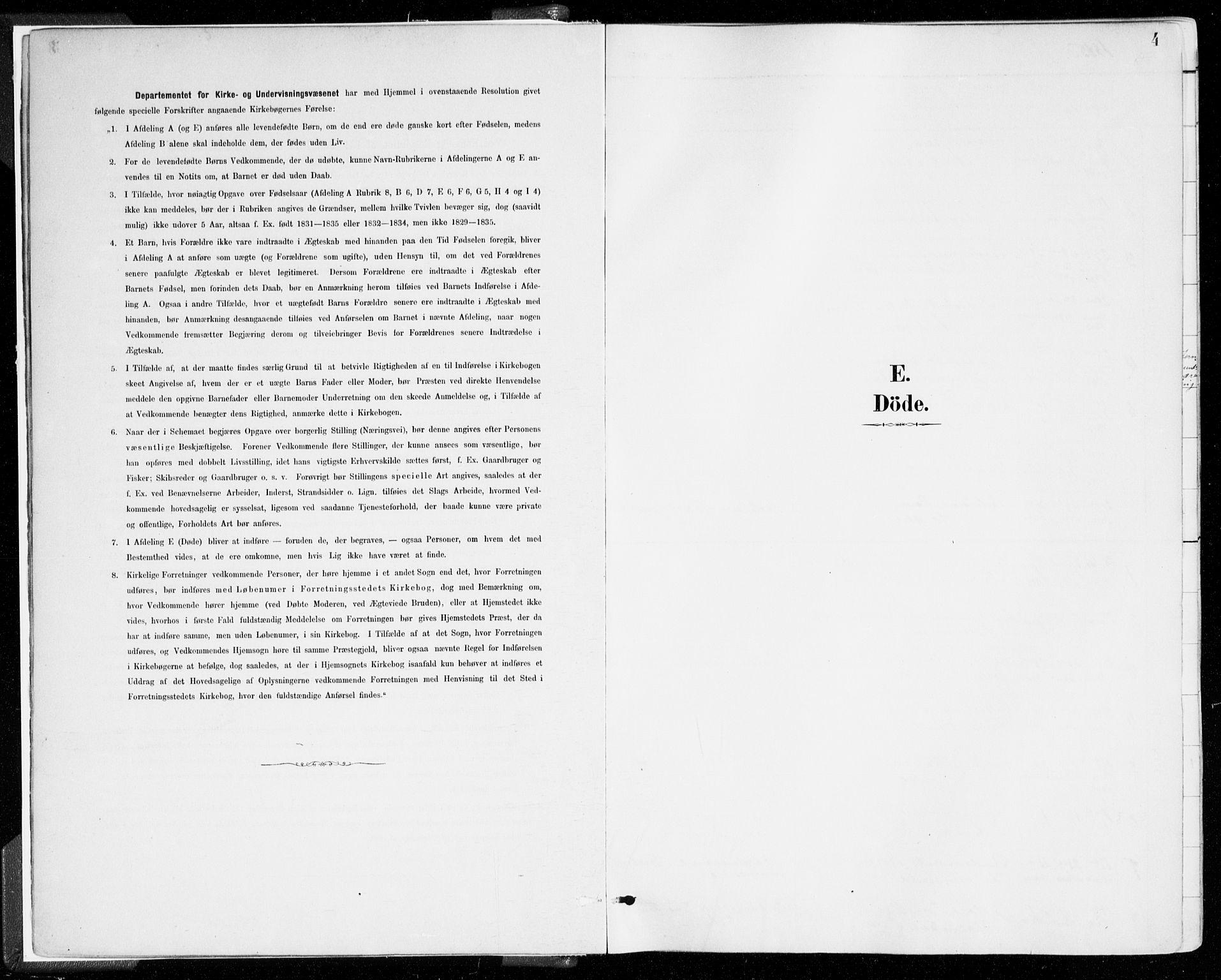 SAB, Johanneskirken Sokneprestembete, H/Haa/L0019: Ministerialbok nr. E 1, 1885-1915, s. 4