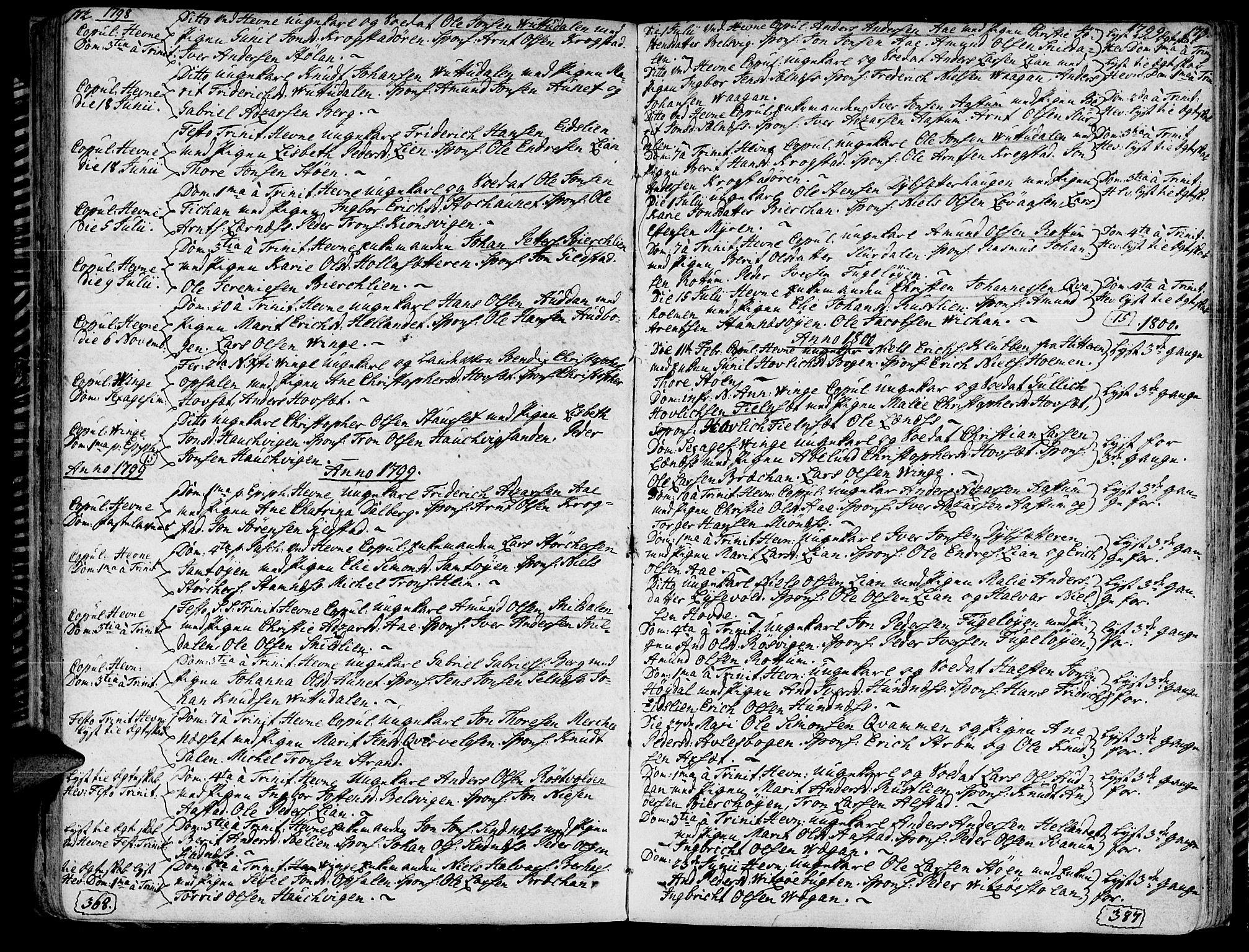 SAT, Ministerialprotokoller, klokkerbøker og fødselsregistre - Sør-Trøndelag, 630/L0490: Ministerialbok nr. 630A03, 1795-1818, s. 172-173