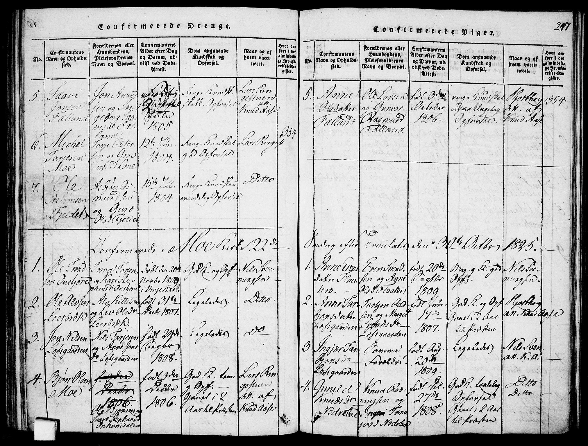 SAKO, Mo kirkebøker, F/Fa/L0004: Ministerialbok nr. I 4, 1814-1844, s. 247