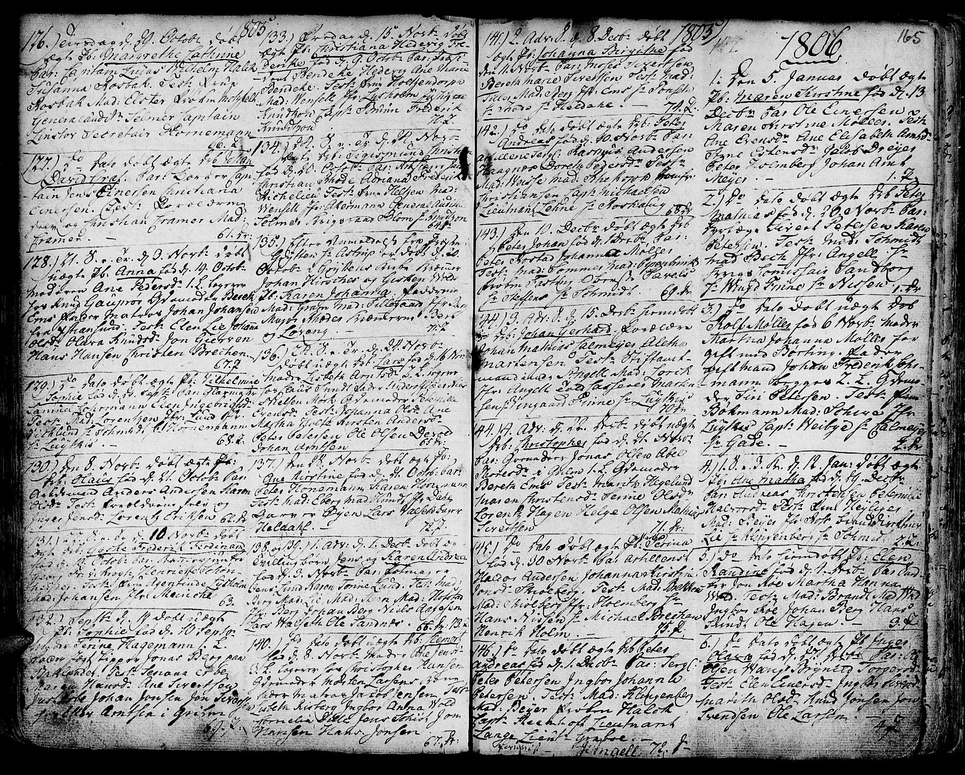 SAT, Ministerialprotokoller, klokkerbøker og fødselsregistre - Sør-Trøndelag, 601/L0039: Ministerialbok nr. 601A07, 1770-1819, s. 165