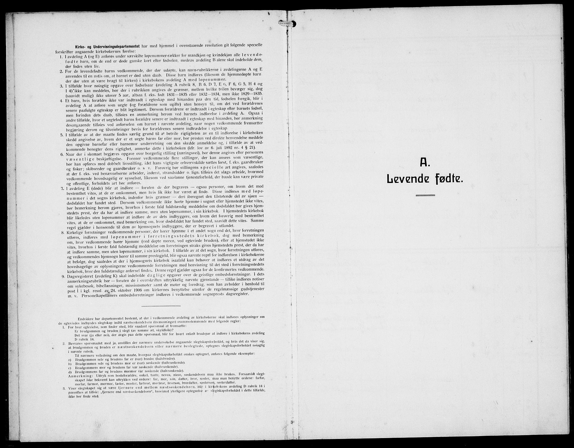 SAST, Håland sokneprestkontor, A/L0001: Klokkerbok nr. B 6, 1914-1940