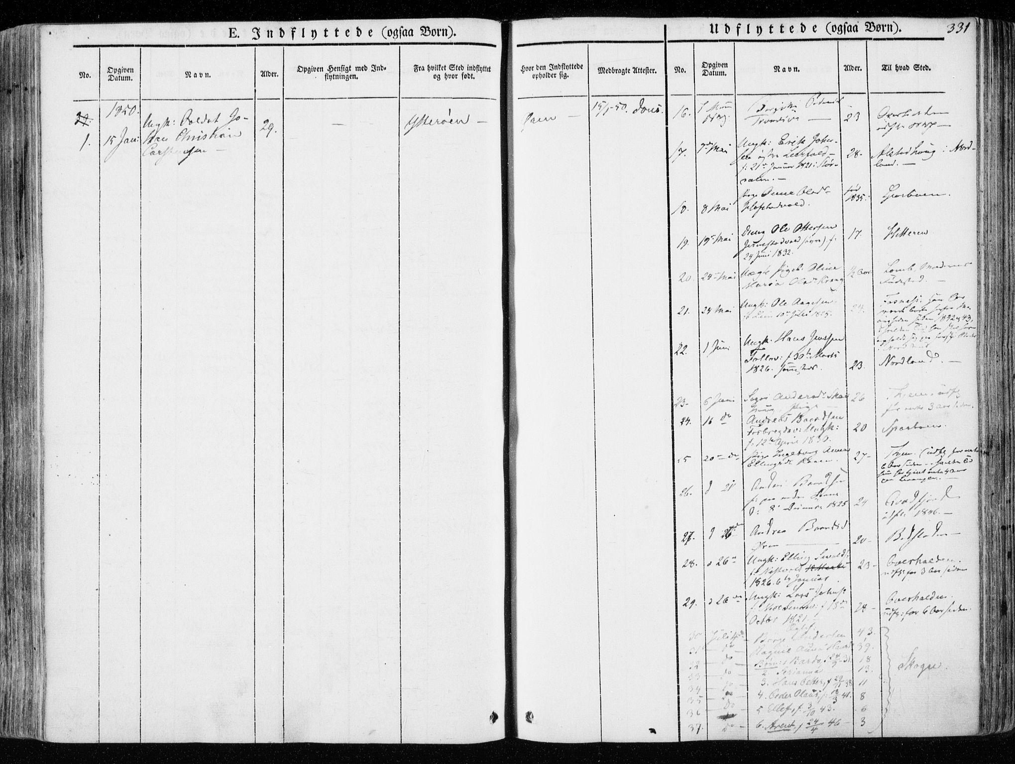 SAT, Ministerialprotokoller, klokkerbøker og fødselsregistre - Nord-Trøndelag, 723/L0239: Ministerialbok nr. 723A08, 1841-1851, s. 331