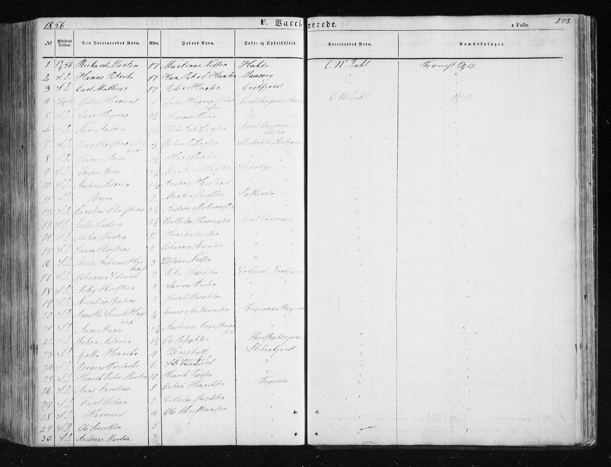 SATØ, Tromsøysund sokneprestkontor, G/Ga/L0001kirke: Ministerialbok nr. 1, 1856-1867, s. 278