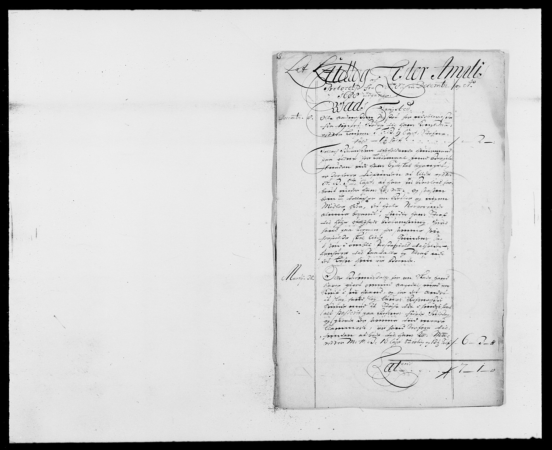 RA, Rentekammeret inntil 1814, Reviderte regnskaper, Fogderegnskap, R41/L2534: Fogderegnskap Lista, 1686-1688, s. 192