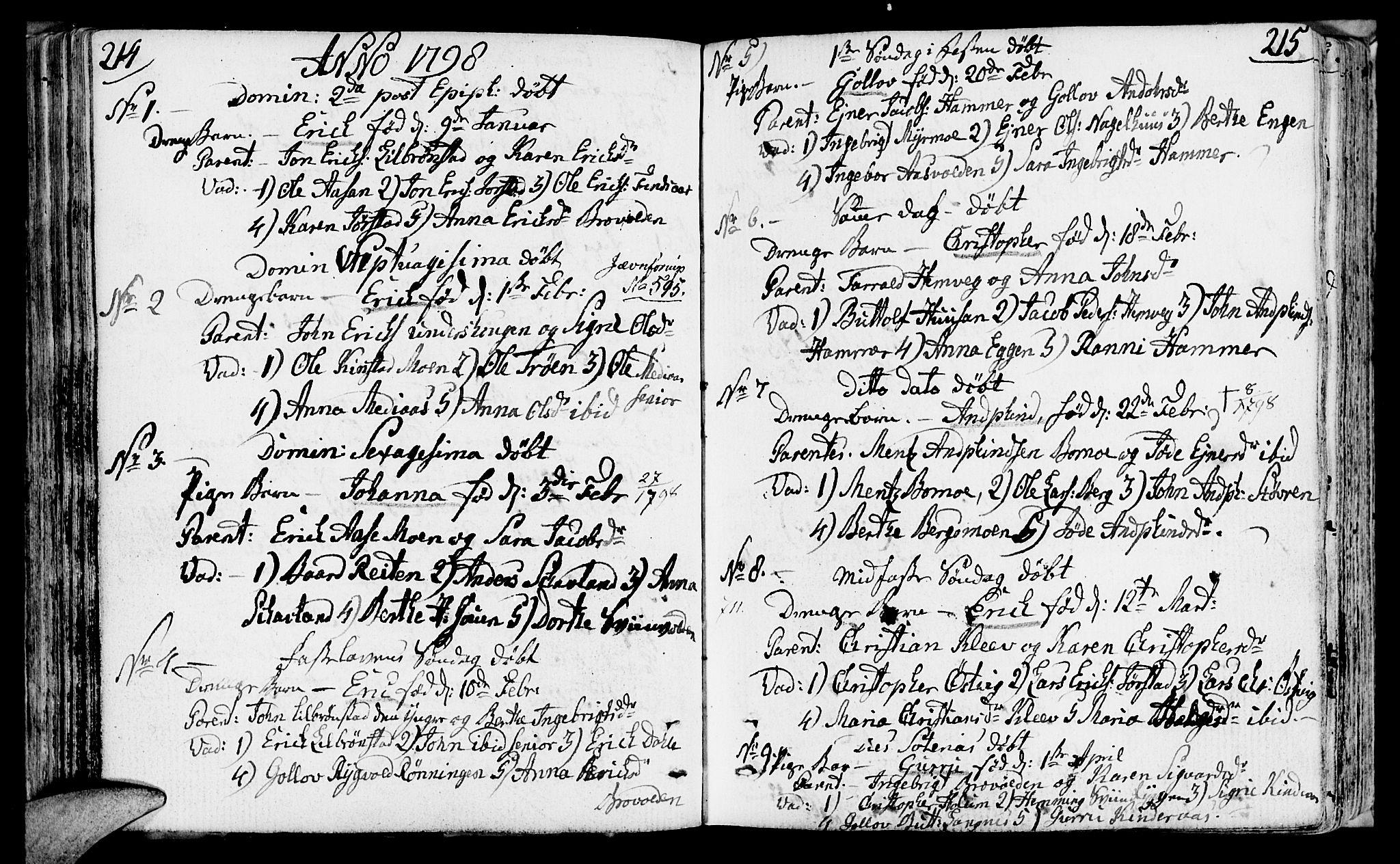 SAT, Ministerialprotokoller, klokkerbøker og fødselsregistre - Nord-Trøndelag, 749/L0468: Ministerialbok nr. 749A02, 1787-1817, s. 214-215