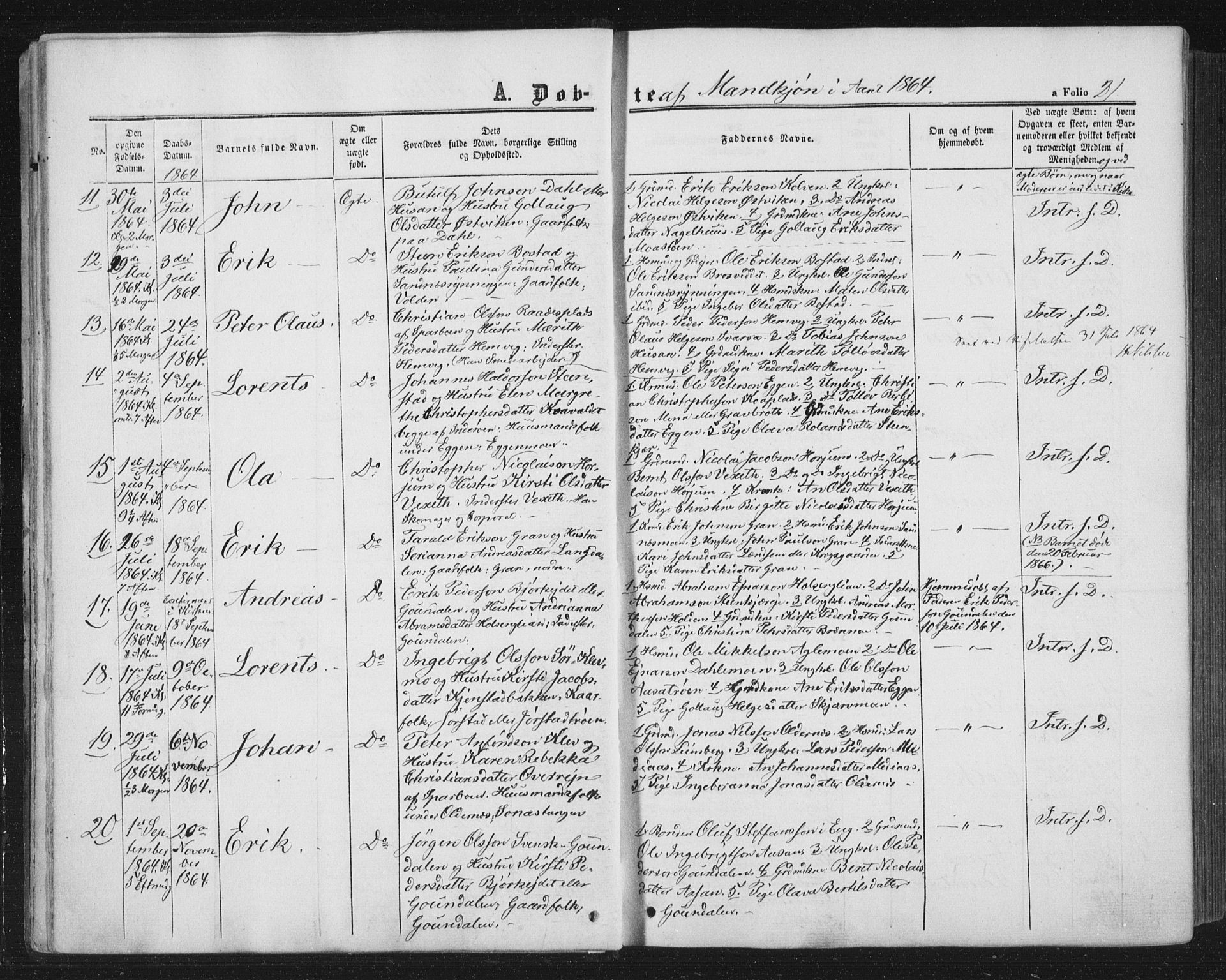 SAT, Ministerialprotokoller, klokkerbøker og fødselsregistre - Nord-Trøndelag, 749/L0472: Ministerialbok nr. 749A06, 1857-1873, s. 21