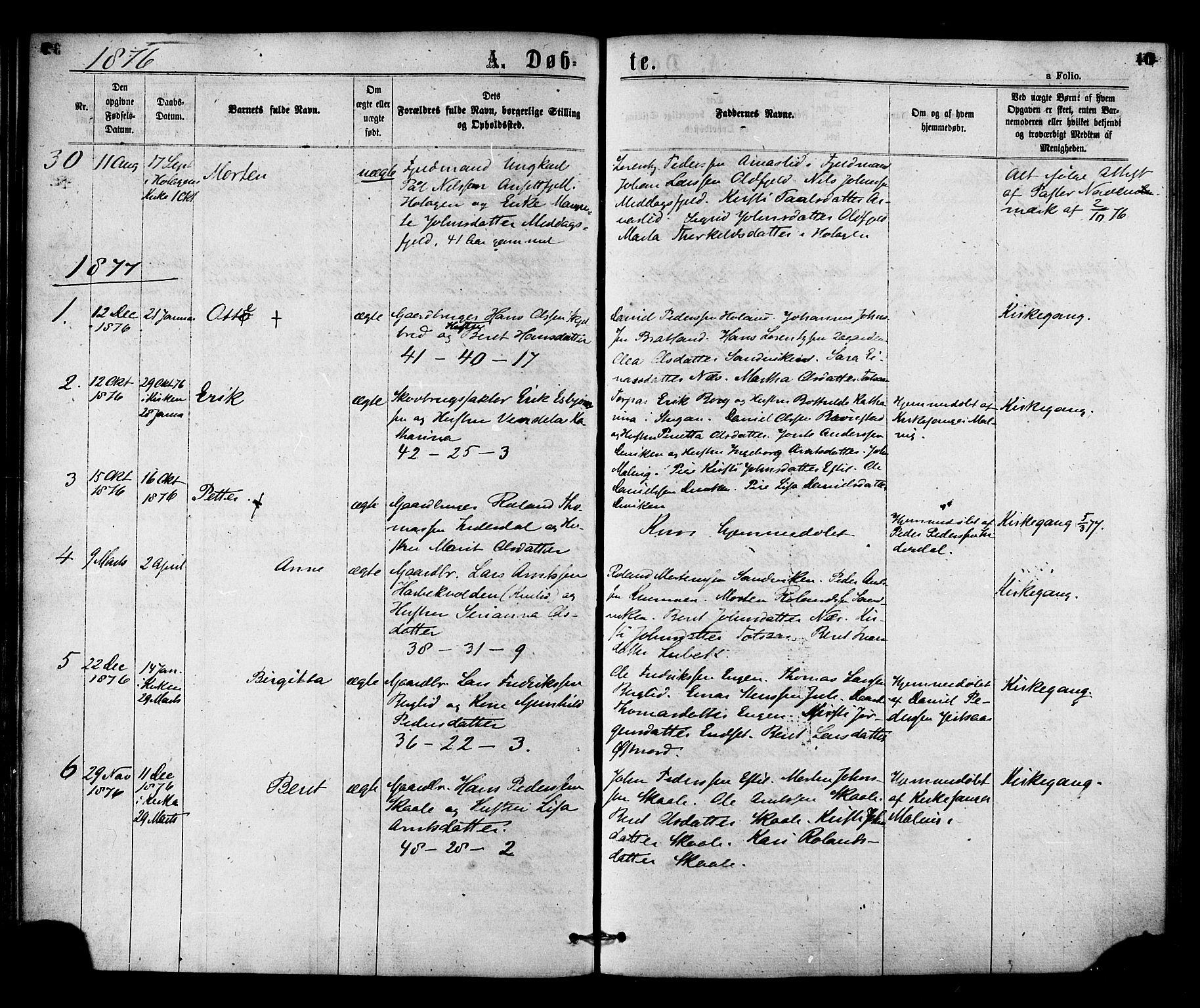 SAT, Ministerialprotokoller, klokkerbøker og fødselsregistre - Nord-Trøndelag, 755/L0493: Ministerialbok nr. 755A02, 1865-1881, s. 40
