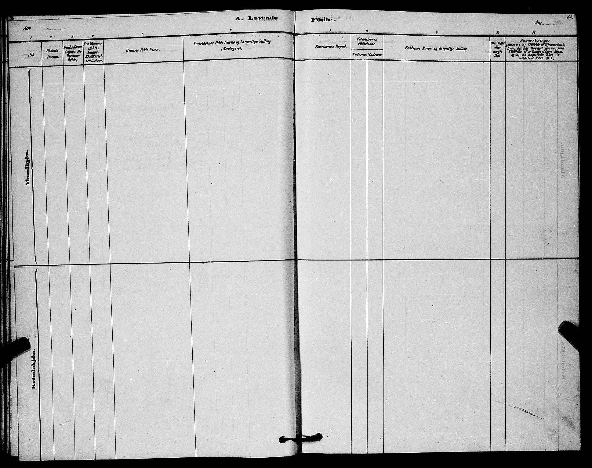 SAKO, Lårdal kirkebøker, G/Gc/L0003: Klokkerbok nr. III 3, 1878-1890, s. 22