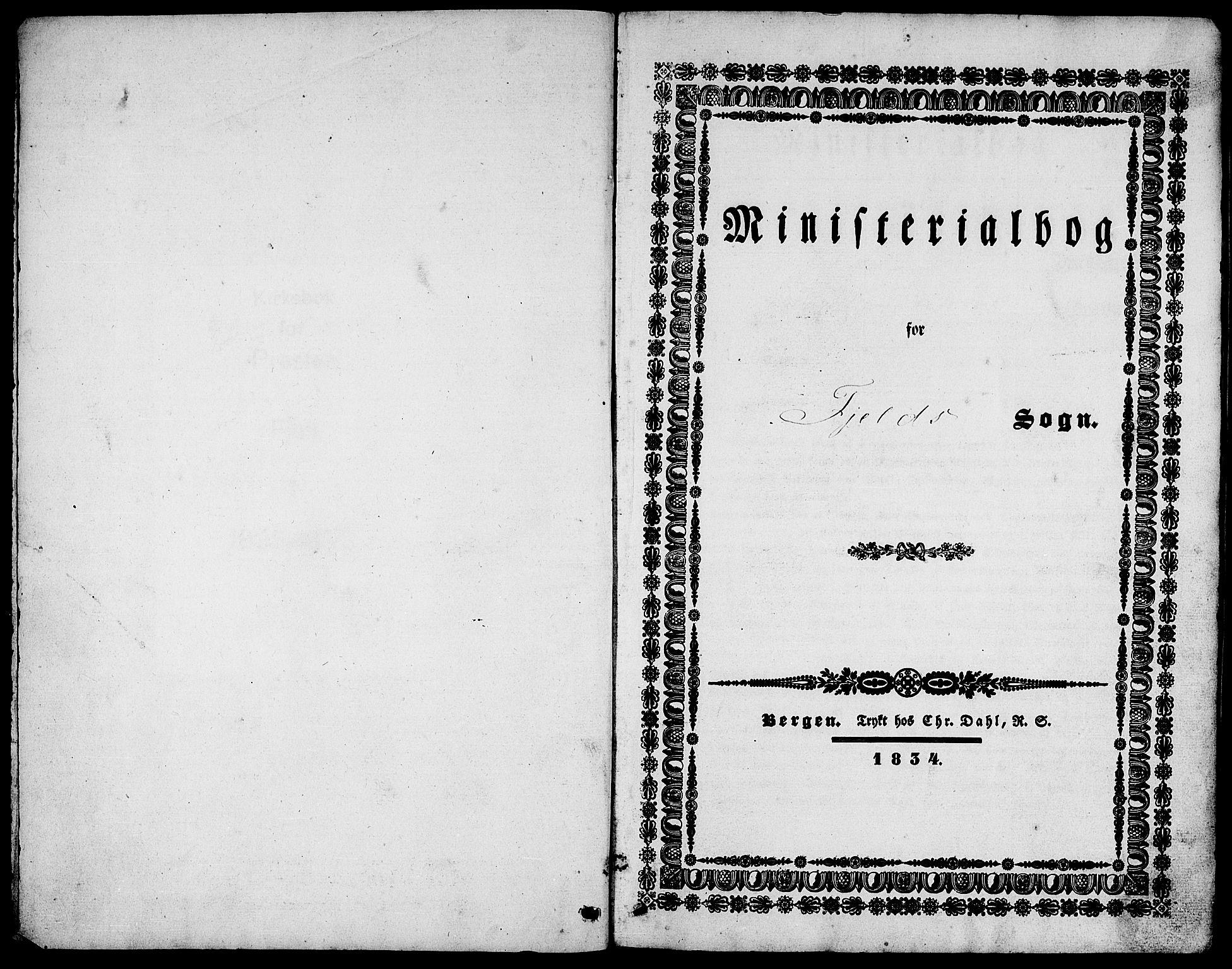 SAB, Fjell Sokneprestembete, H/Haa: Ministerialbok nr. A 1, 1835-1850